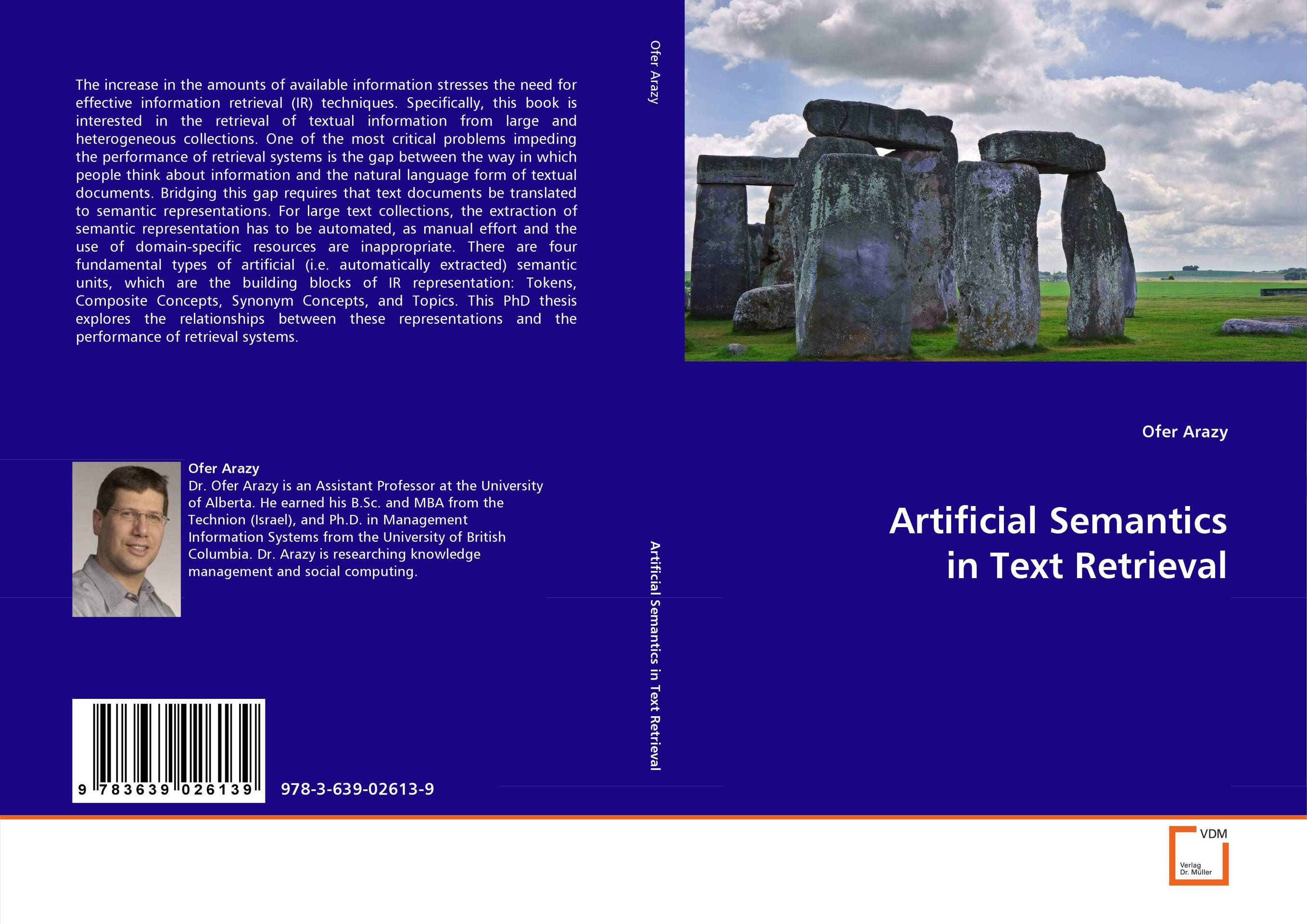 Artificial Semantics in Text Retrieval information searching and retrieval