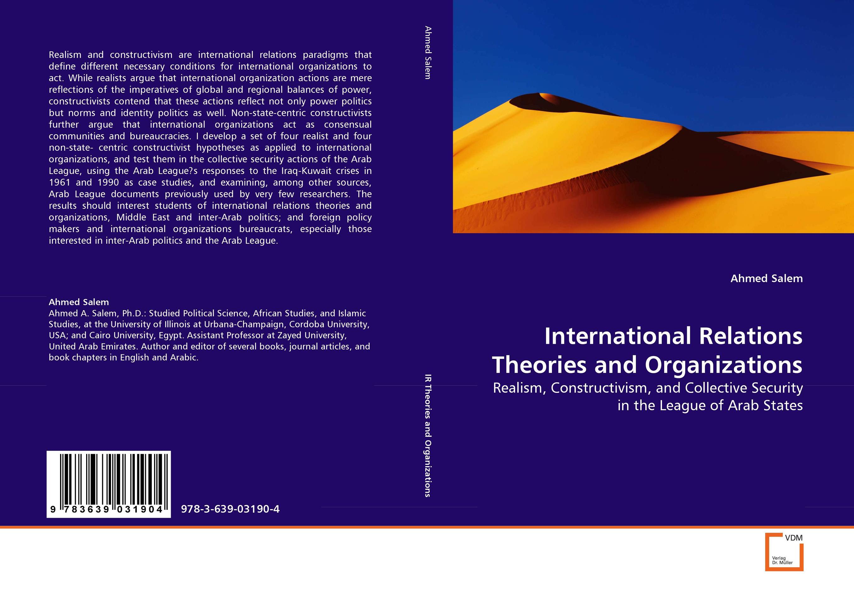 International Relations Theories and Organizations the role of the league of arab states
