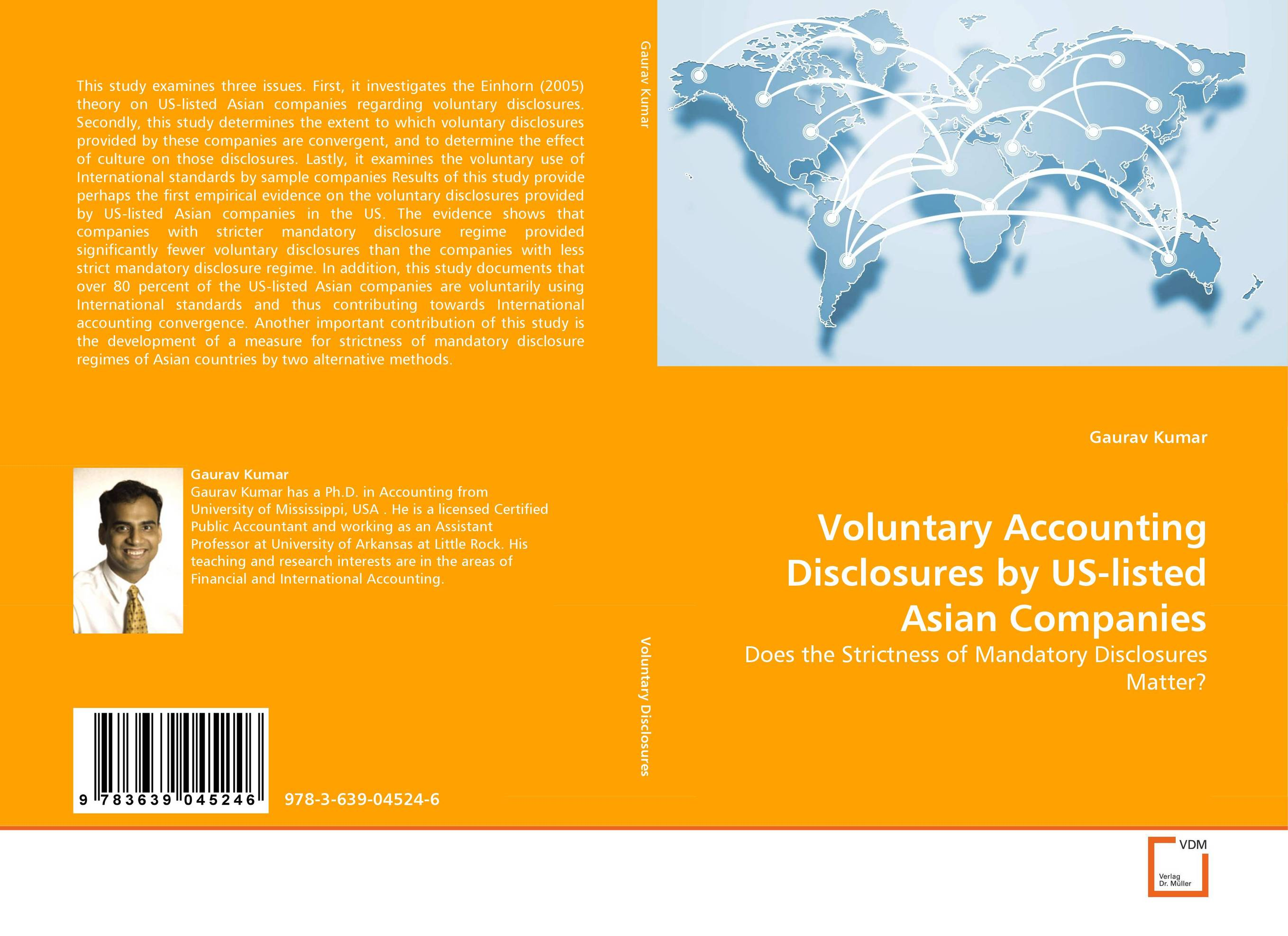 Voluntary Accounting Disclosures by US-listed Asian Companies
