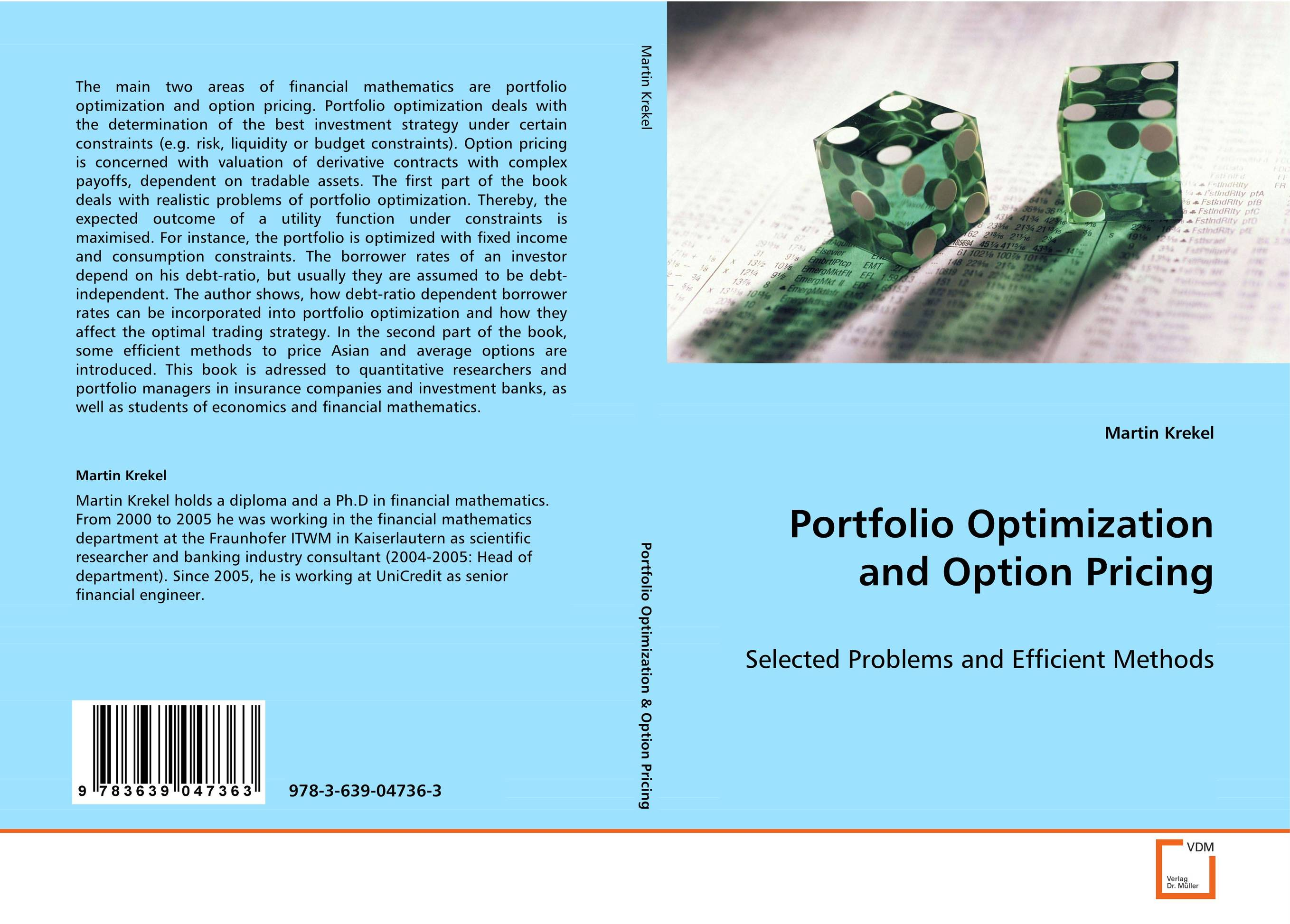 Portfolio Optimization and Option Pricing the borrower