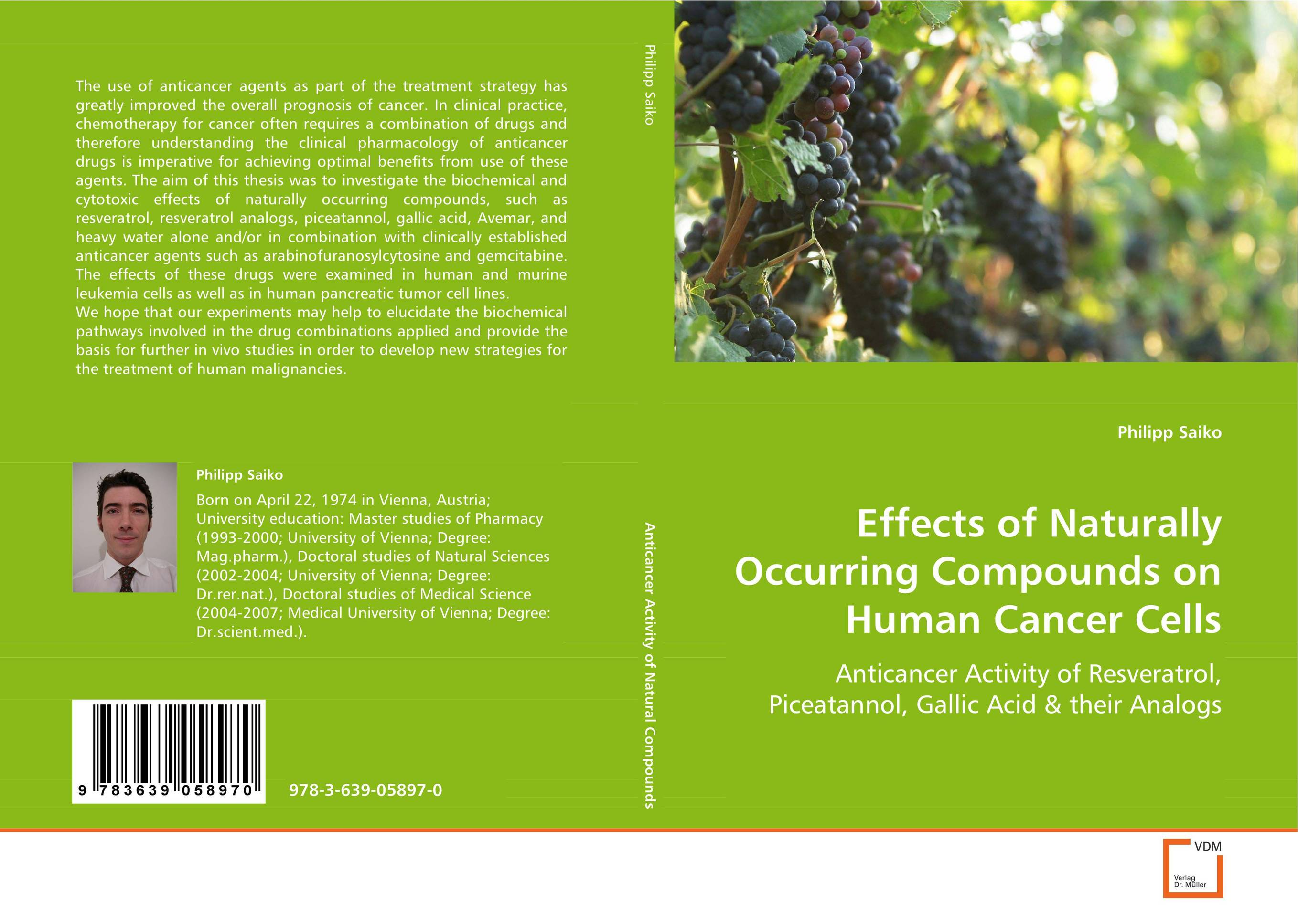 Effects of Naturally Occurring Compounds on HumanCancer Cells