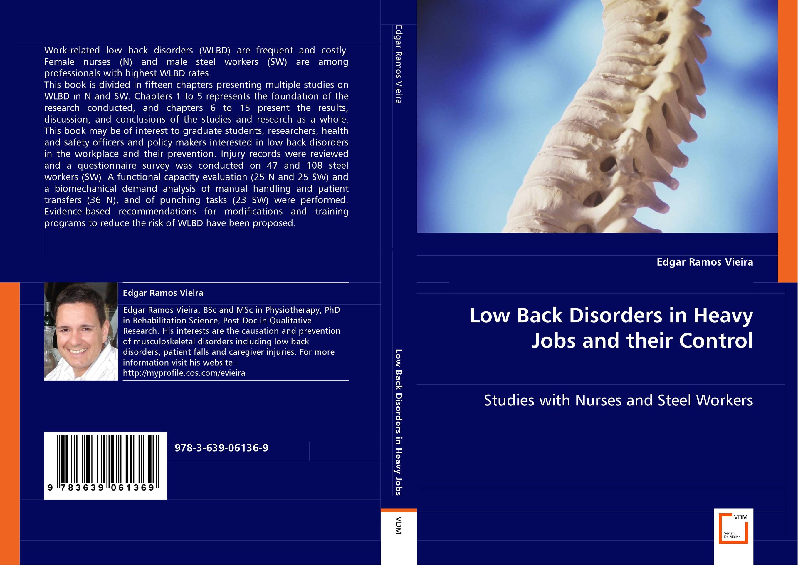 Low Back Disorders in Heavy Jobs and their Control paramjit singh and kennath j arul temporomandibular joint in health and disorders