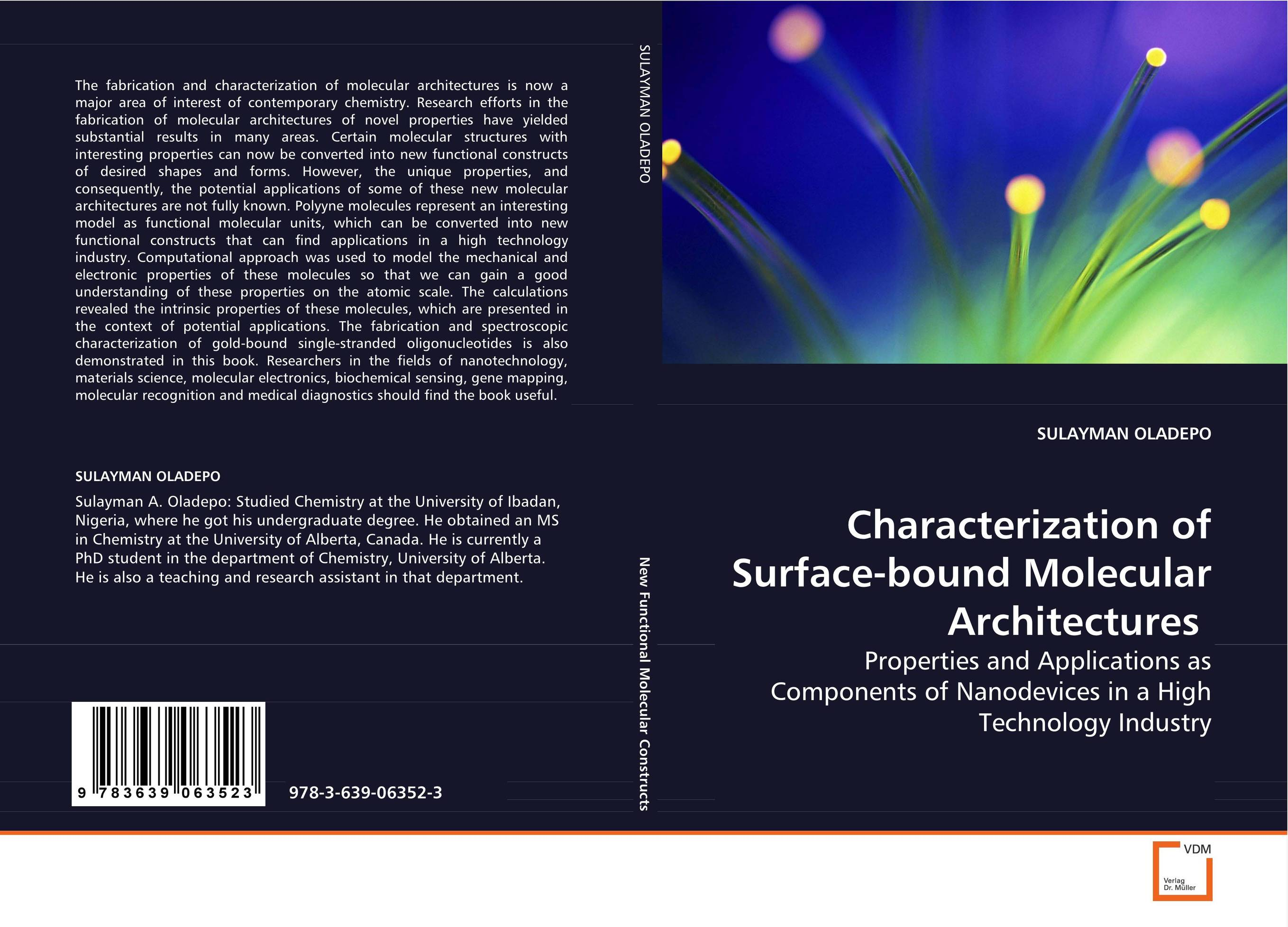Characterization of Surface-bound MolecularArchitectures vishal r patil and j g talati wheat molecular and biochemical characterization