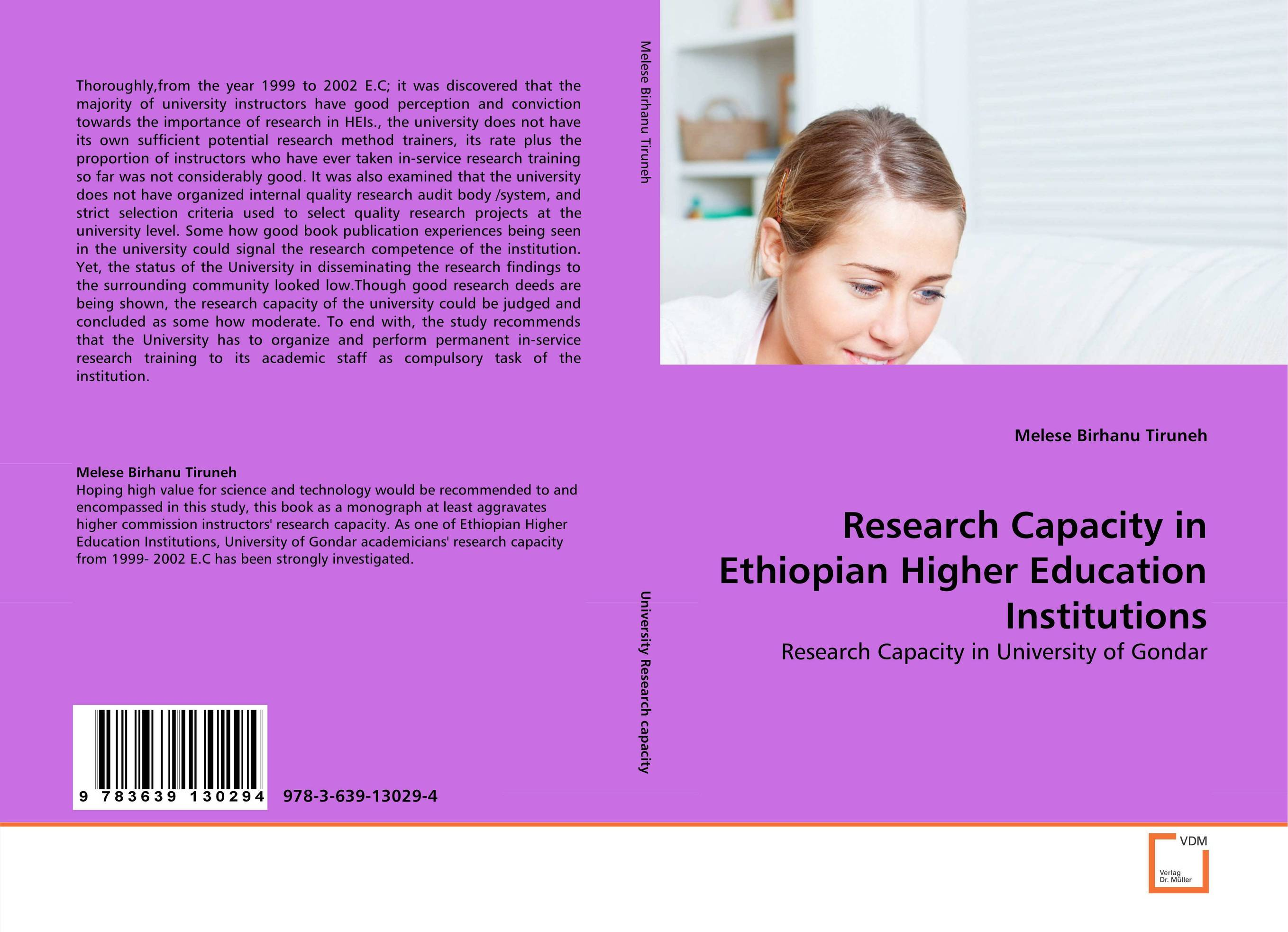 Research Capacity in Ethiopian Higher Education Institutions
