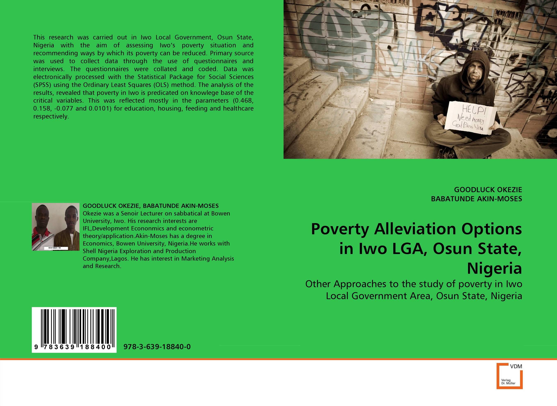 Poverty Alleviation Options in Iwo LGA, Osun State, Nigeria odass bilame artisanal fisheries environment and poverty alleviation