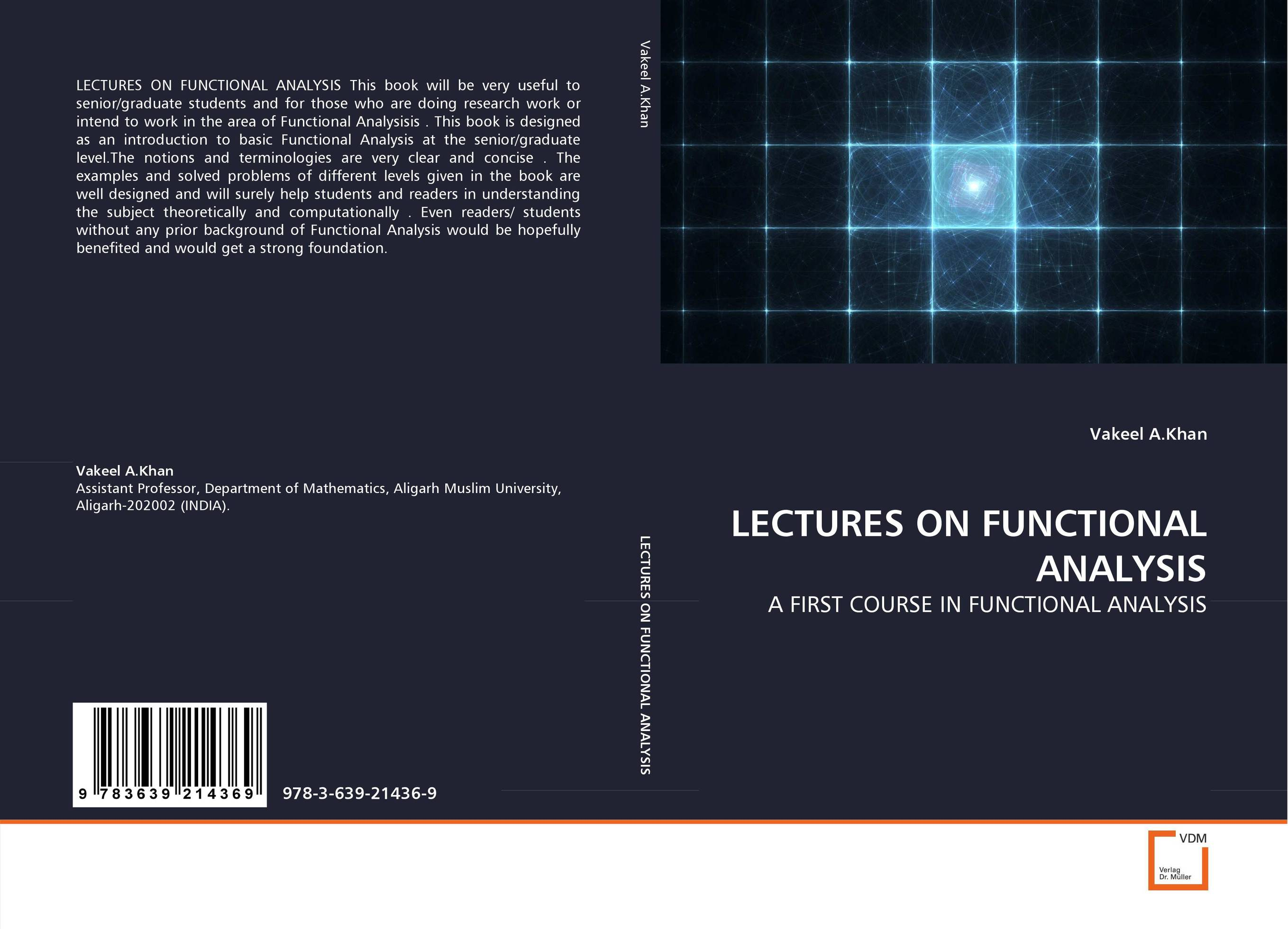 LECTURES ON FUNCTIONAL ANALYSIS lectures on functional analysis