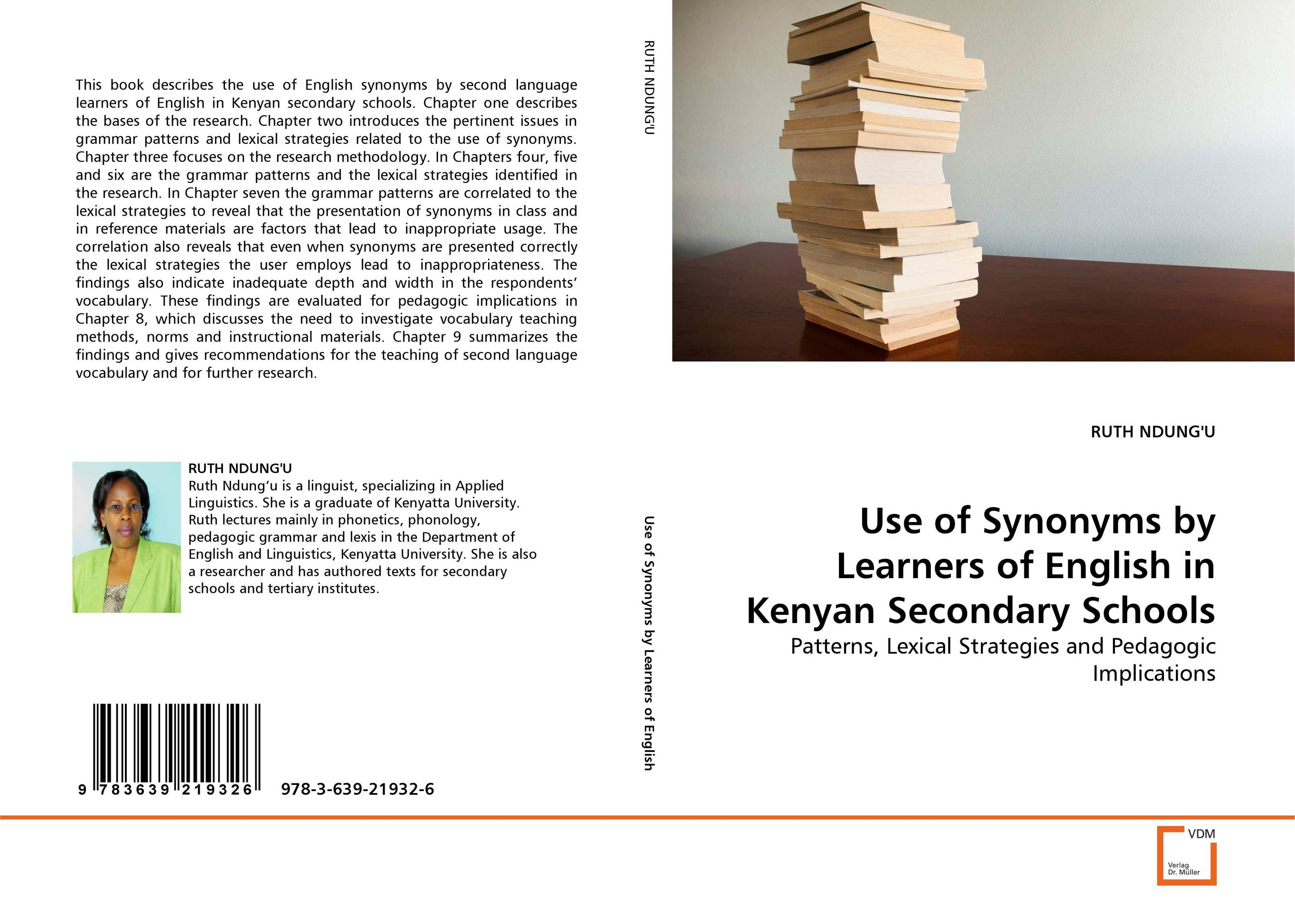 Use of Synonyms by Learners of English in Kenyan Secondary Schools the use of instructional materials in the pedagogy of english