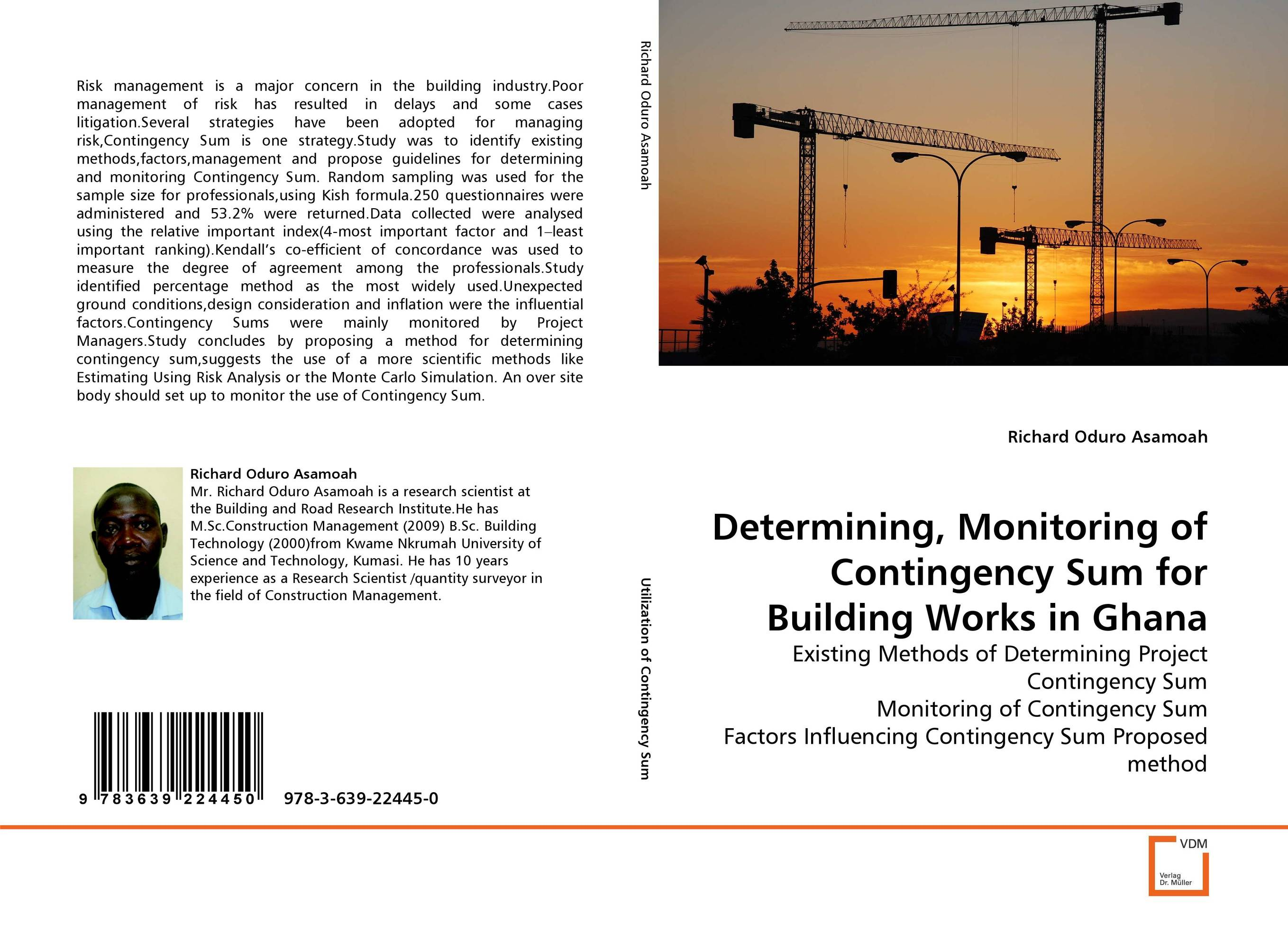 Determining, Monitoring of Contingency Sum for Building Works in Ghana srichander ramaswamy managing credit risk in corporate bond portfolios a practitioner s guide