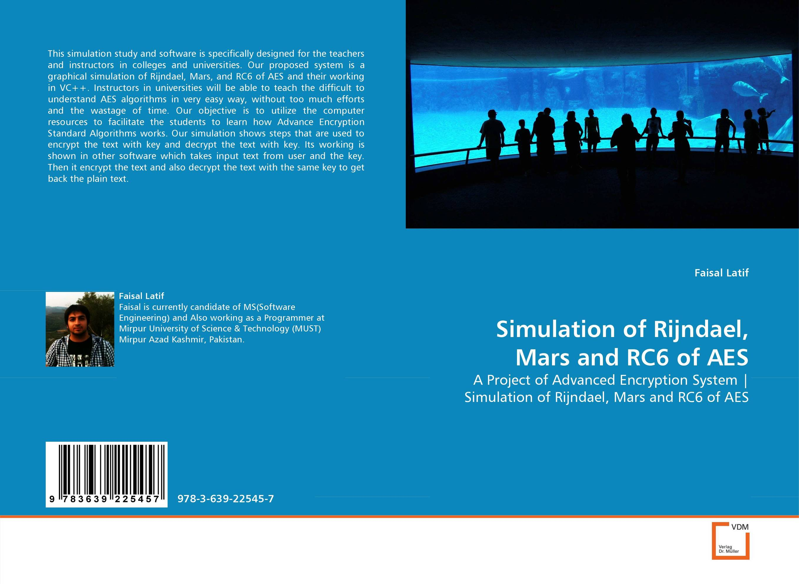 Simulation of Rijndael, Mars and RC6 of AES text in action