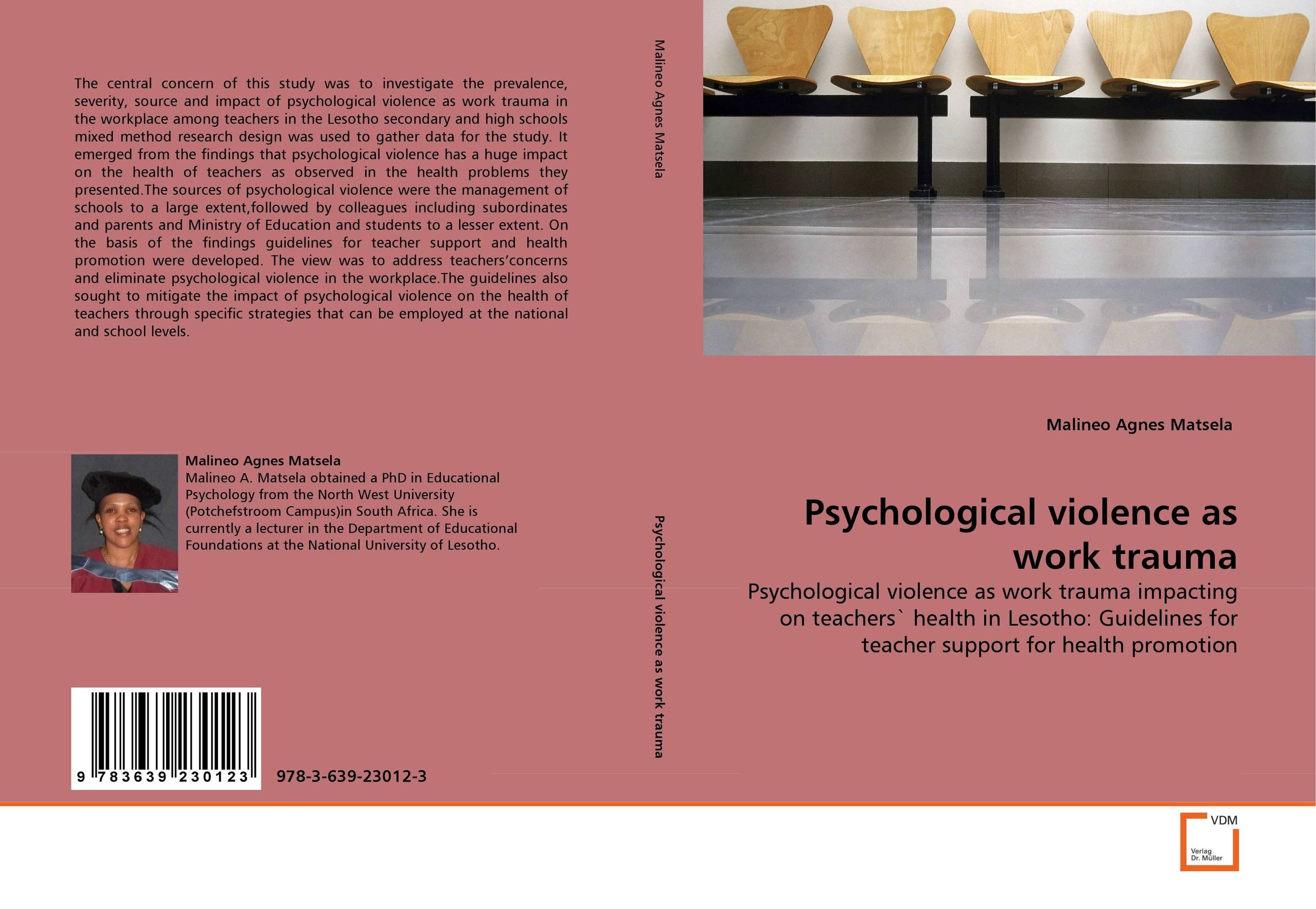 Psychological violence as work trauma  fritz ilongo workplace bullying as psychological violence in tertiary institutions
