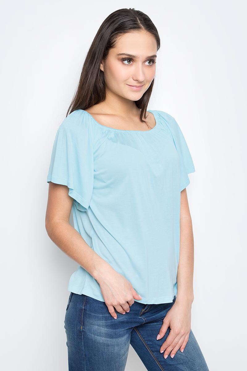 Футболка женская Baon, цвет: светло-голубой. B237048. Размер M (46)