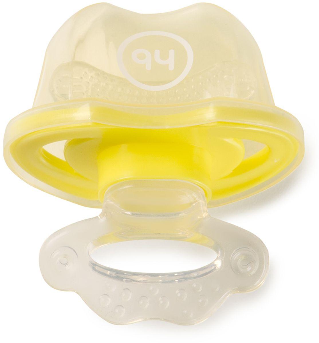 Happy Baby Прорезыватель цвет желтый happy baby прорезыватель мишка от 6 месяцев цвет желтый