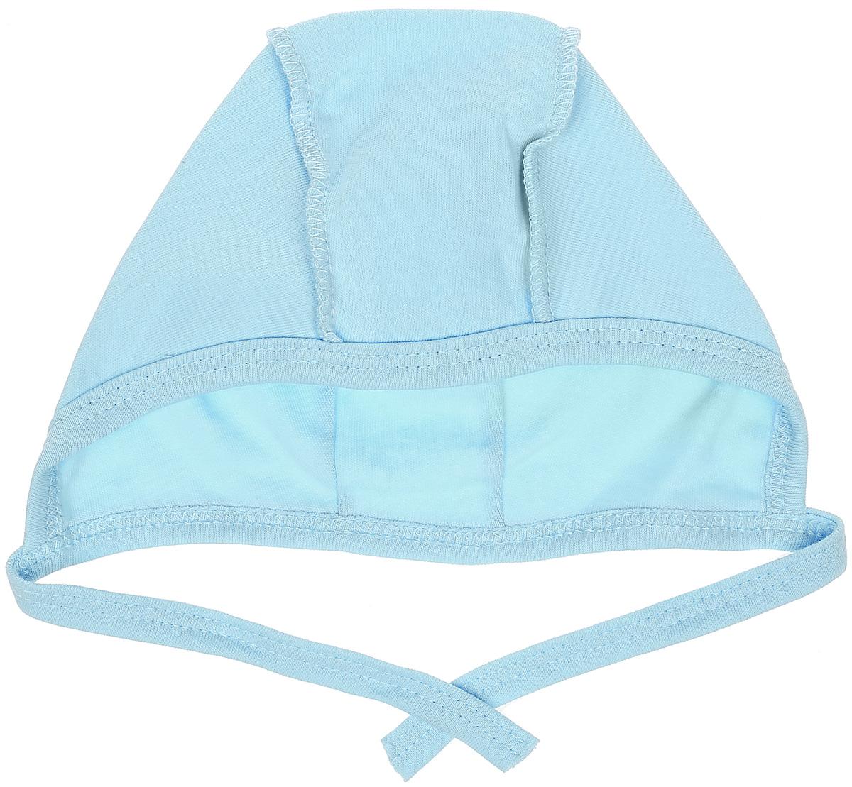 Чепчик для мальчика КотМарКот Бельчонок, цвет: голубой. 8204. Размер 48