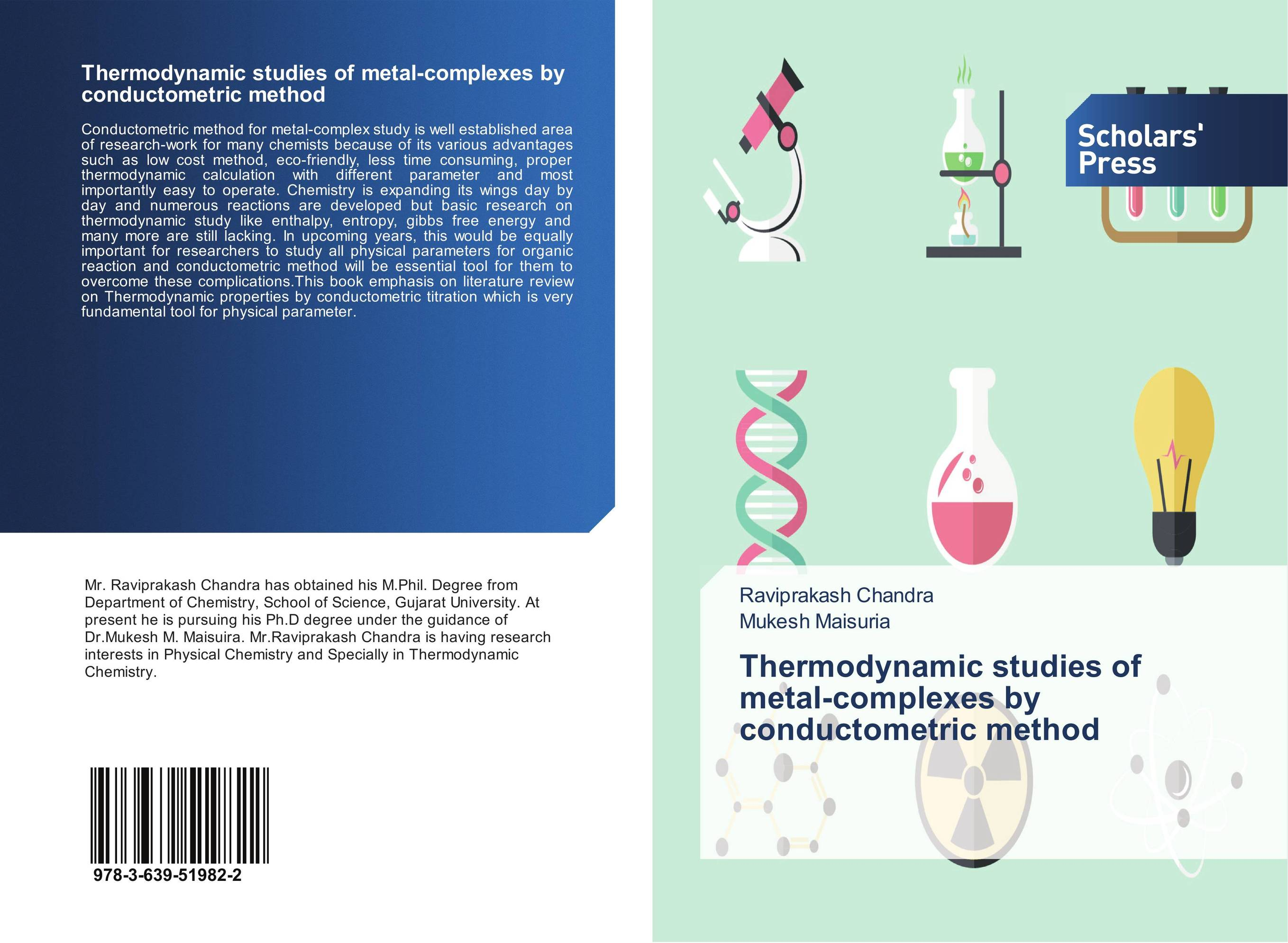 Thermodynamic studies of metal-complexes by conductometric method
