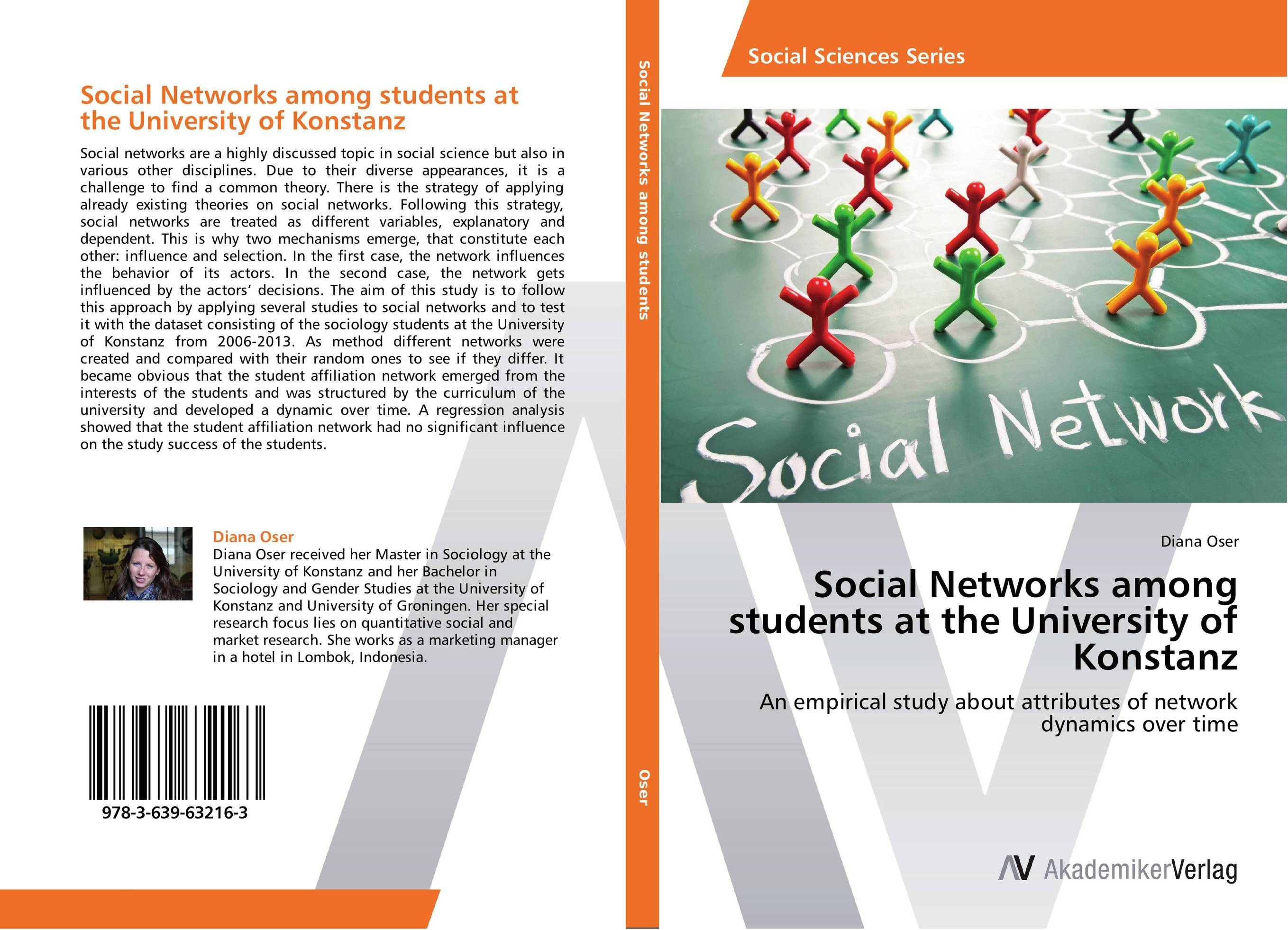 Social Networks among students at the University of Konstanz navigating in a network of interests