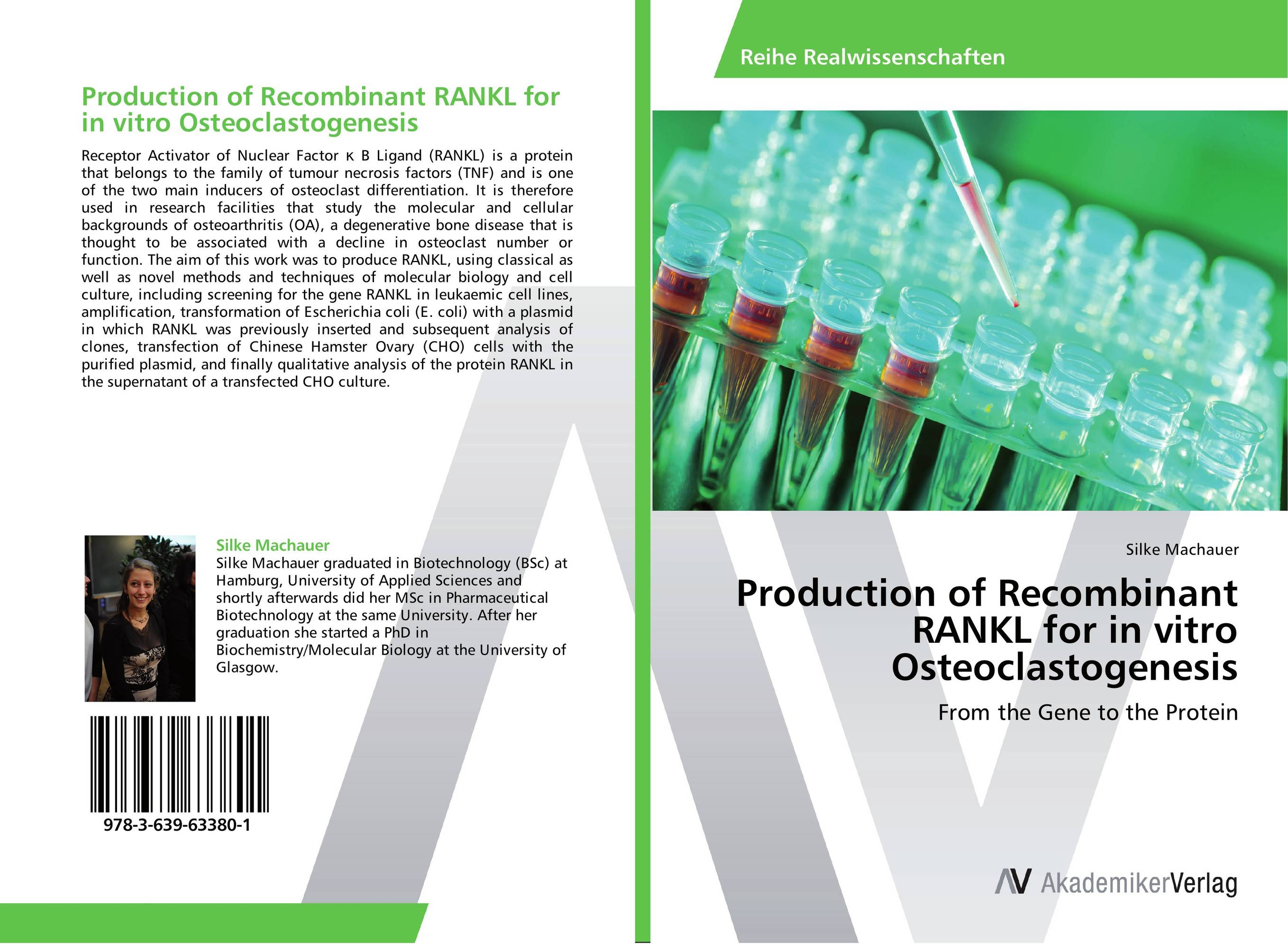 Production of Recombinant RANKL for in vitro Osteoclastogenesis production of recombinant rankl for in vitro osteoclastogenesis