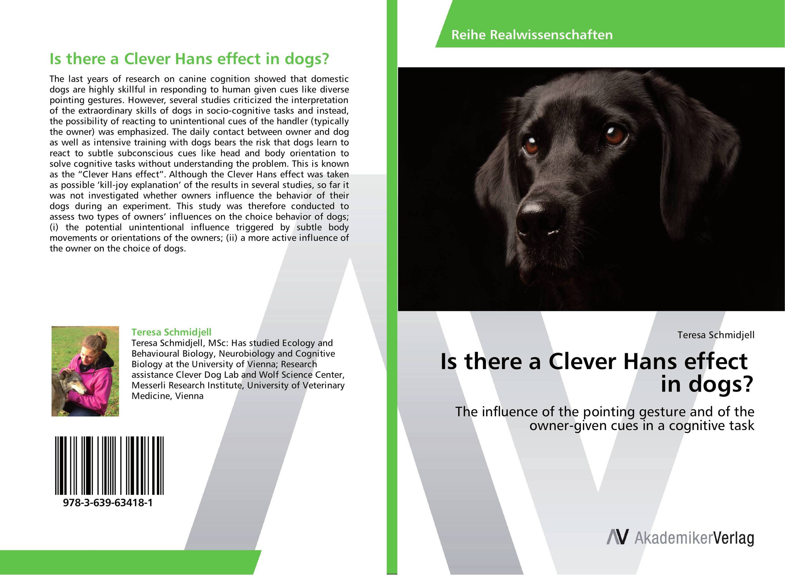 Is there a Clever Hans effect in dogs? hedrich hans the laboratory mouse