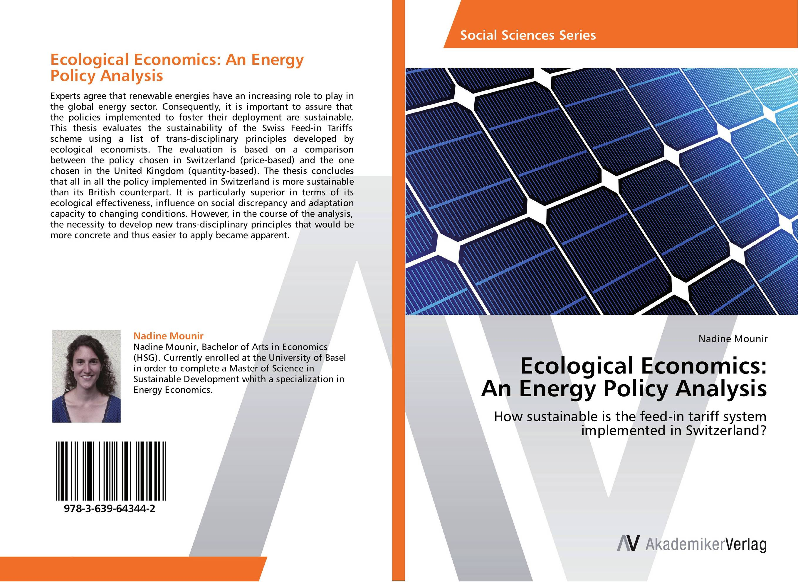 Ecological Economics: An Energy Policy Analysis the economics of globalization policy perspectives from public economics