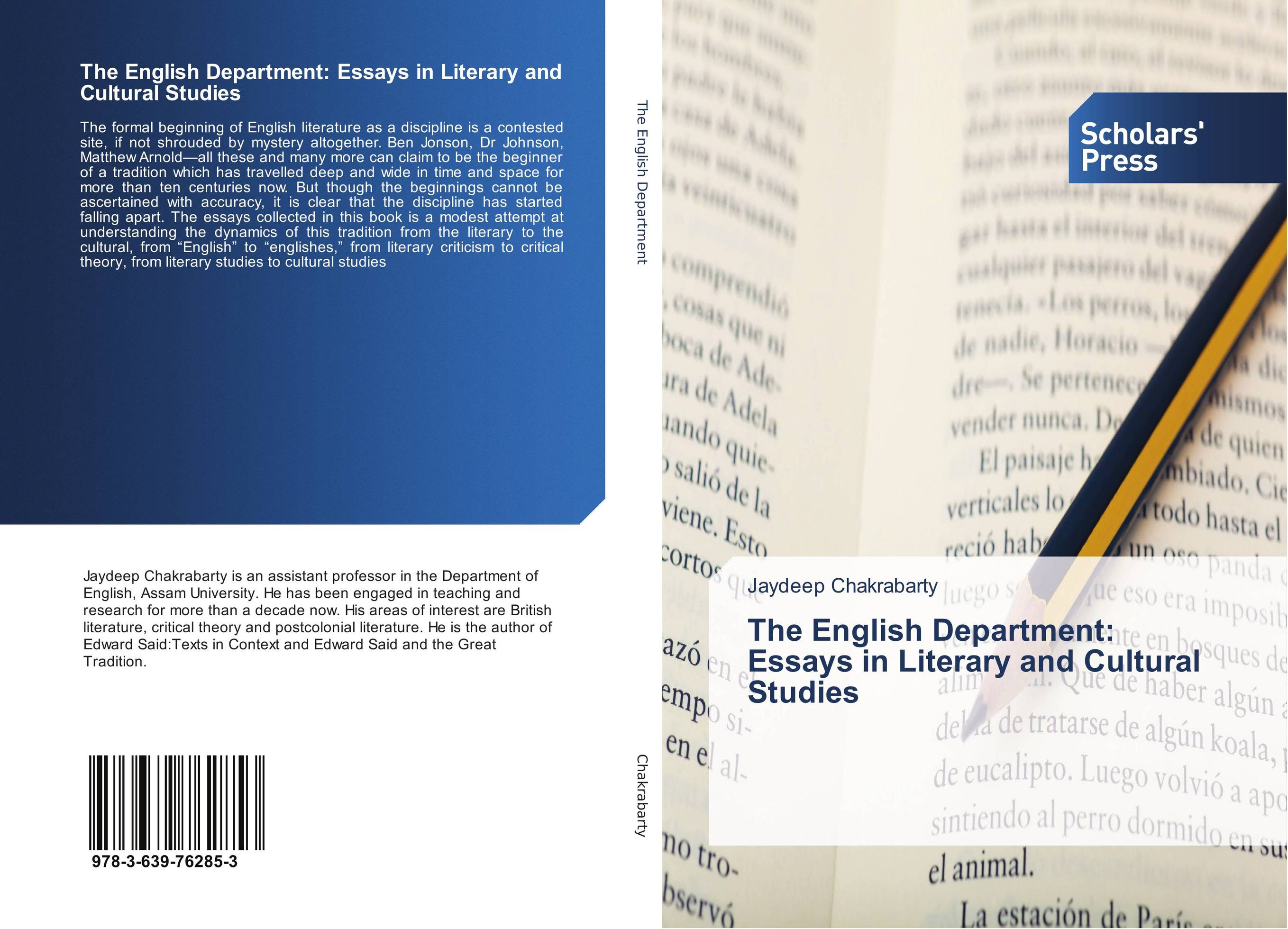 The English Department: Essays in Literary and Cultural Studies arindam ghosh hazra studies on boundary conditions and noncommutativity in string theory