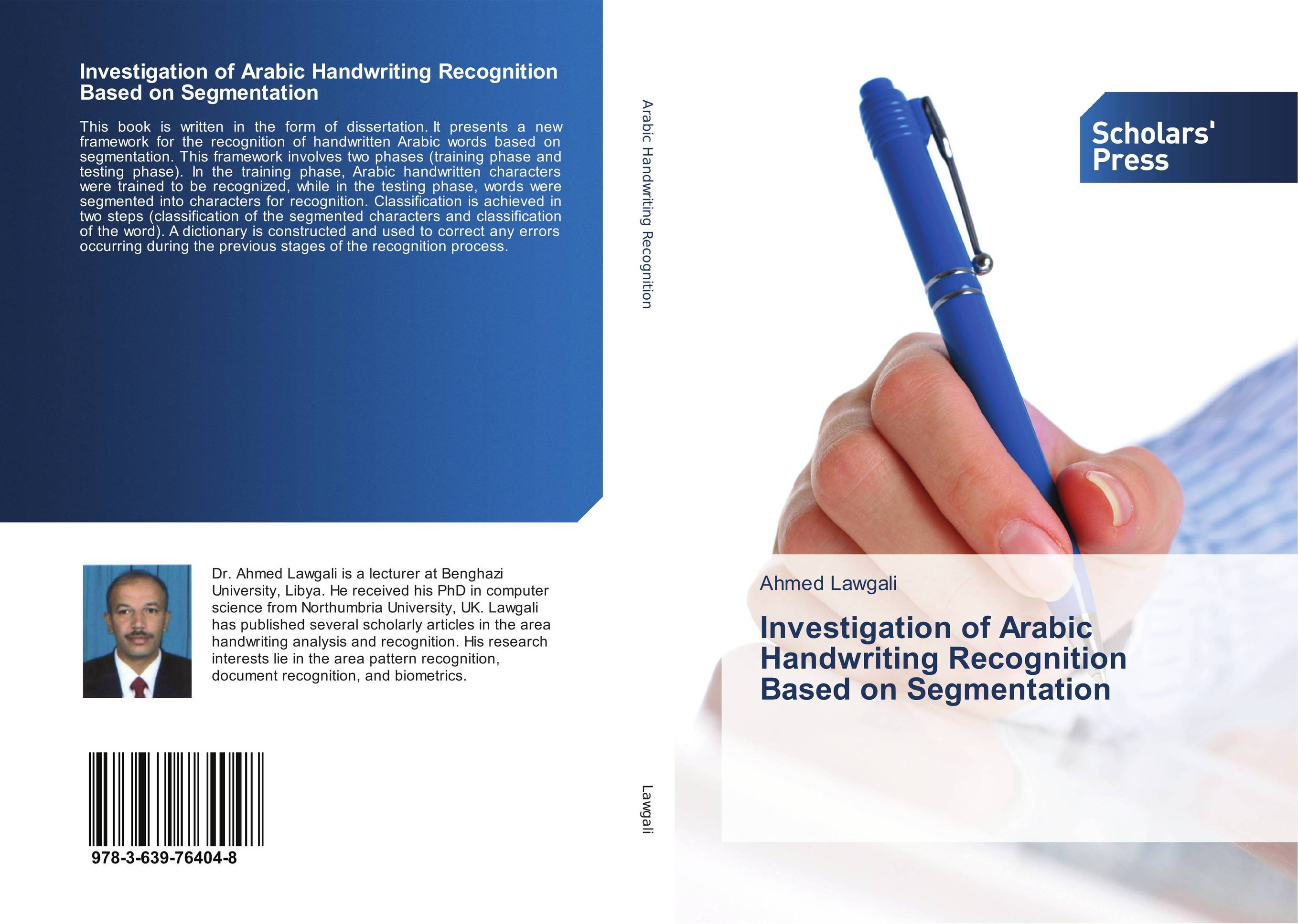 Investigation of Arabic Handwriting Recognition Based on Segmentation