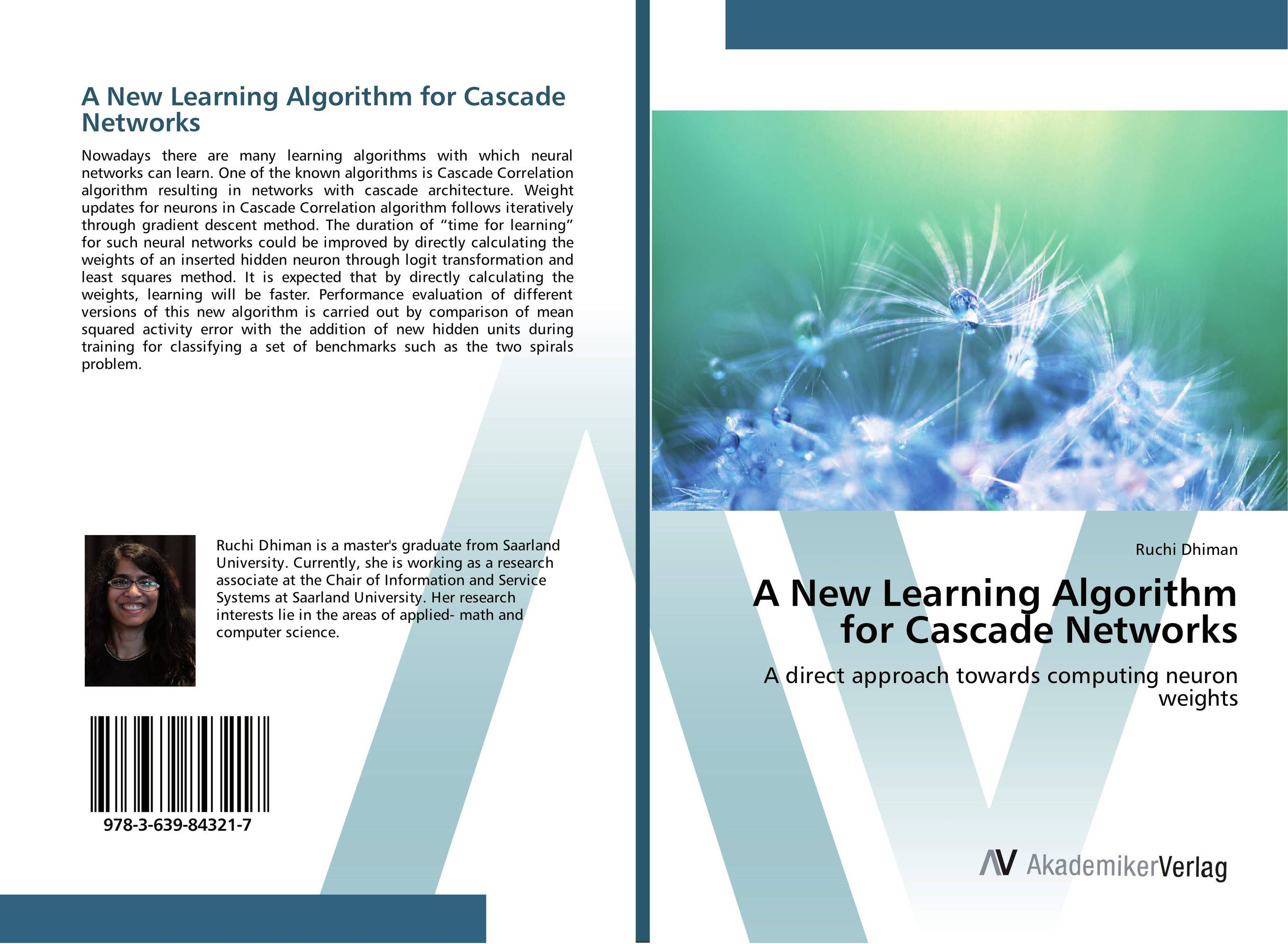 A New Learning Algorithm for Cascade Networks evaluation of aqueous solubility of hydroxamic acids by pls modelling