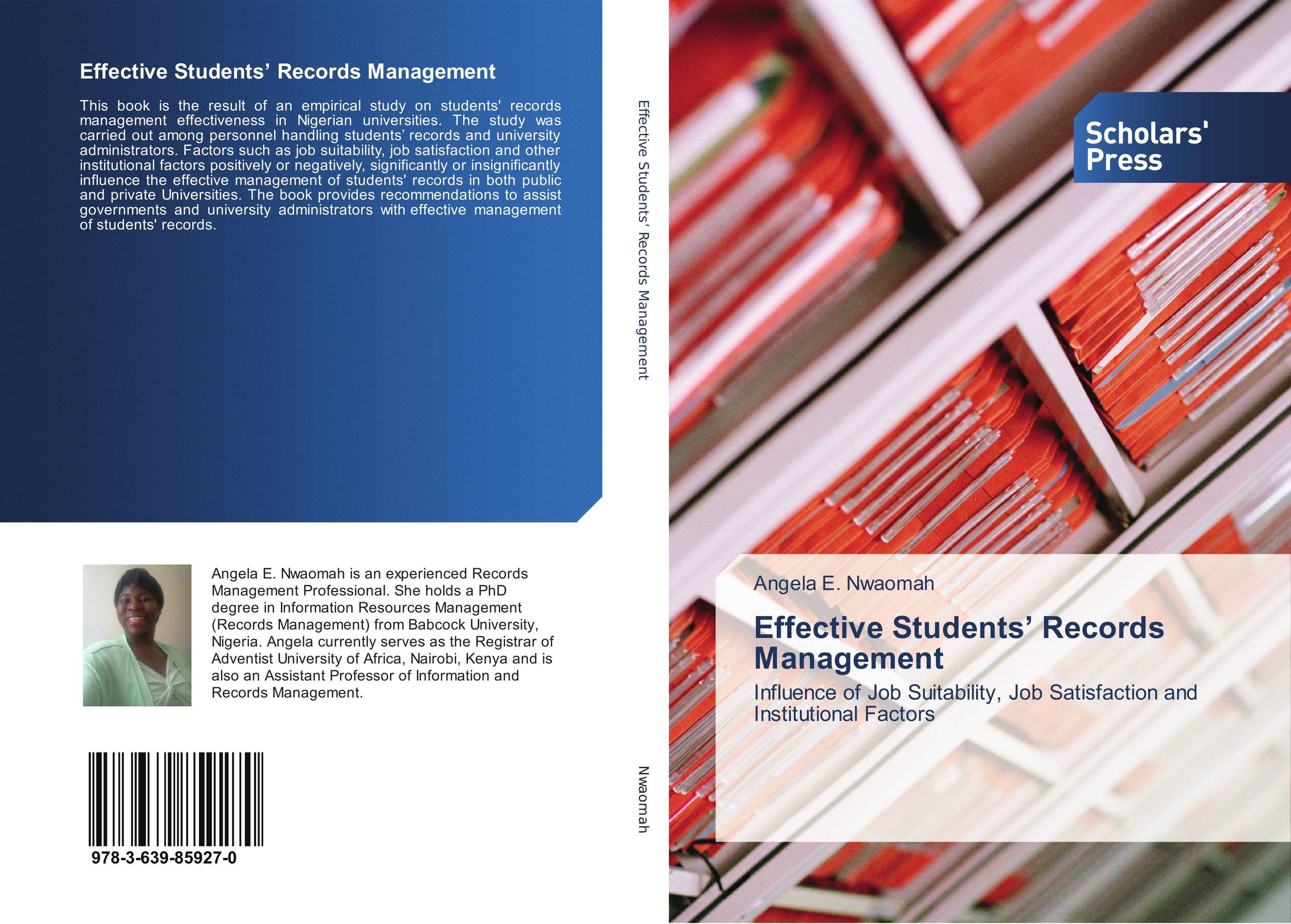Effective Students' Records Management dieting practices among ahfad university for women students