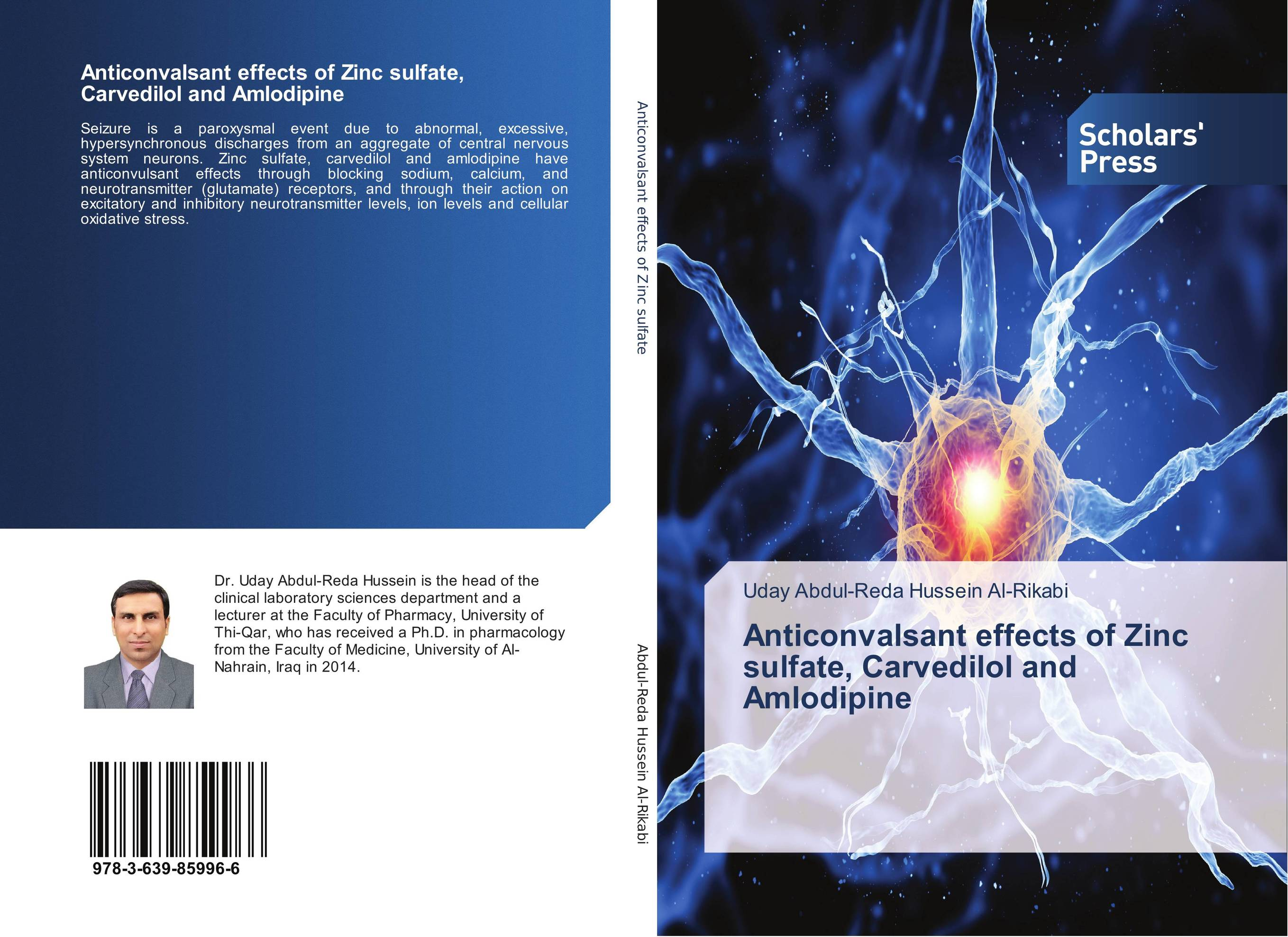 Anticonvalsant effects of Zinc sulfate, Carvedilol and Amlodipine 5 bottles 500pills diabetes treatment radix rehmannia extract effects on central nervous system and cardiovascular function