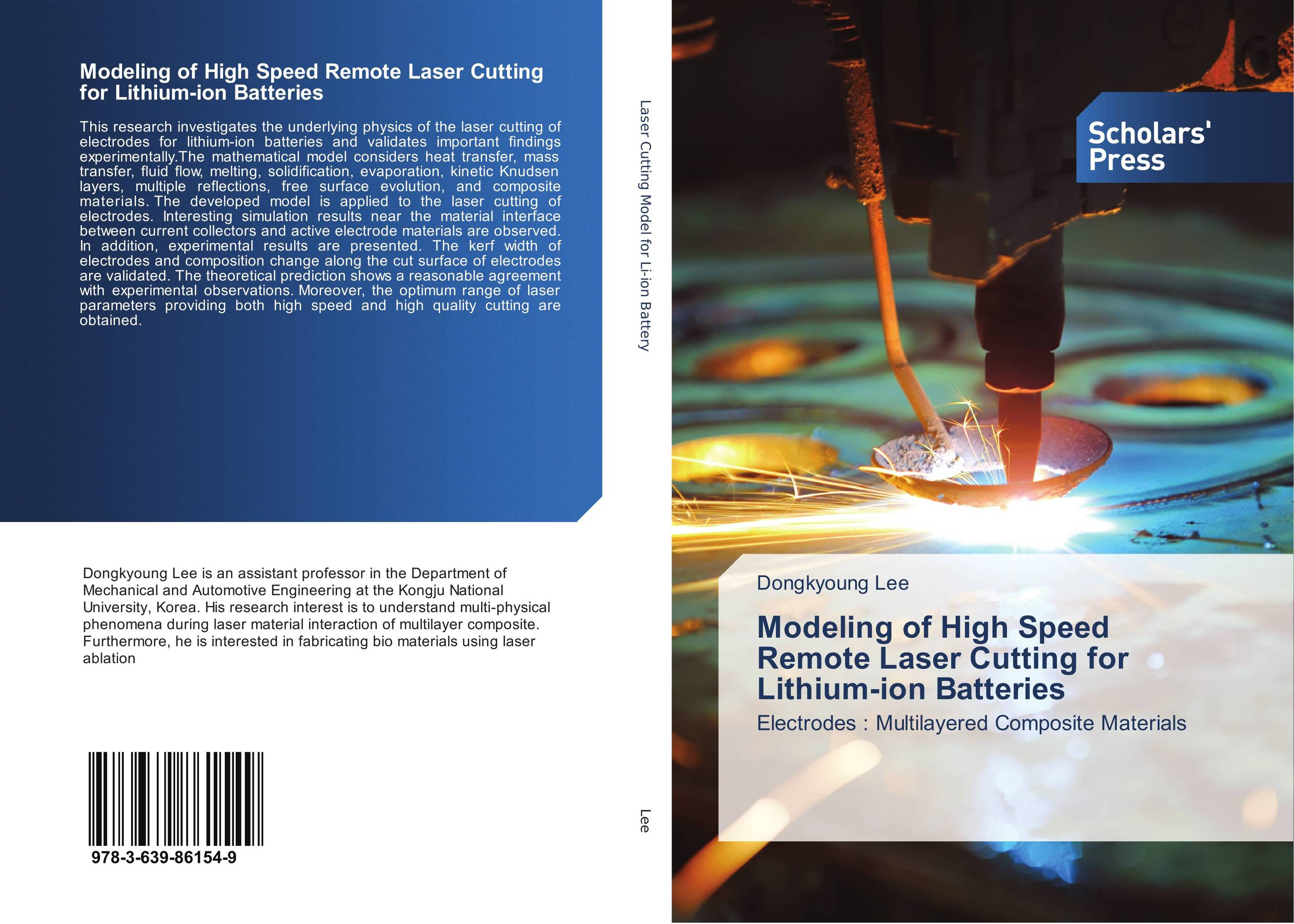 Modeling of High Speed Remote Laser Cutting for Lithium-ion Batteries