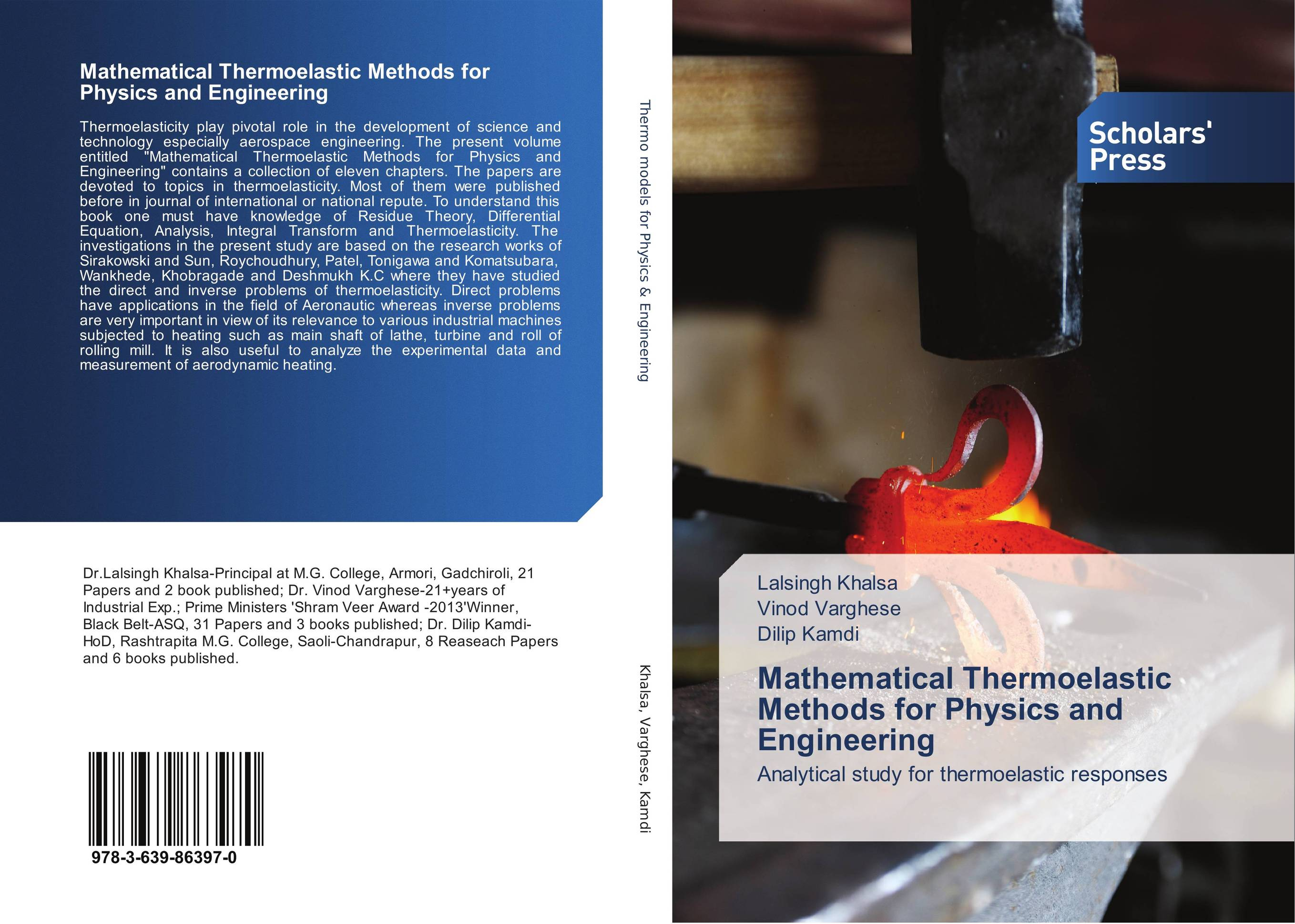 Mathematical Thermoelastic Methods for Physics and Engineering joseph physics for engineering technology 2ed