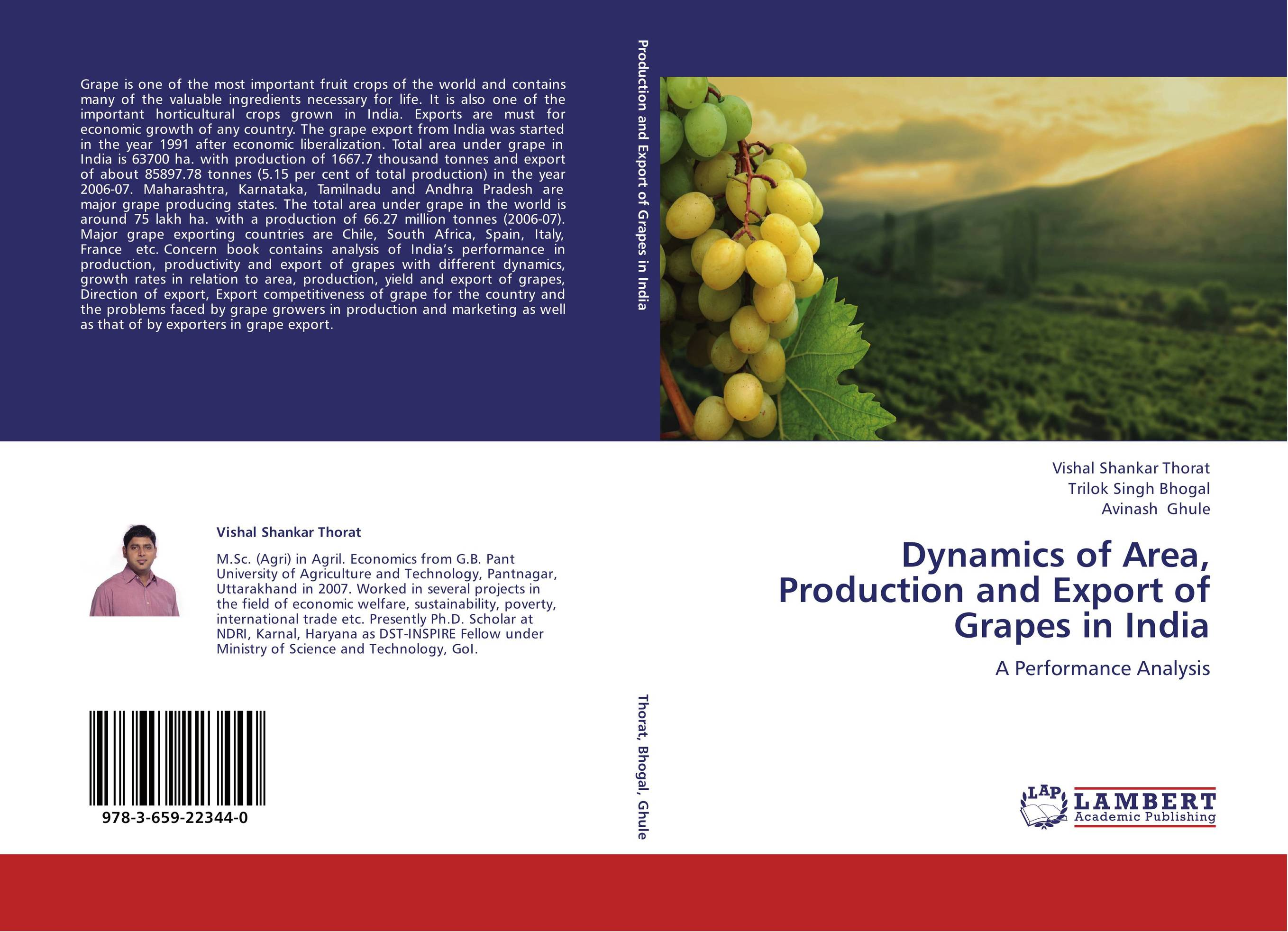 Dynamics of Area, Production and Export of Grapes in India