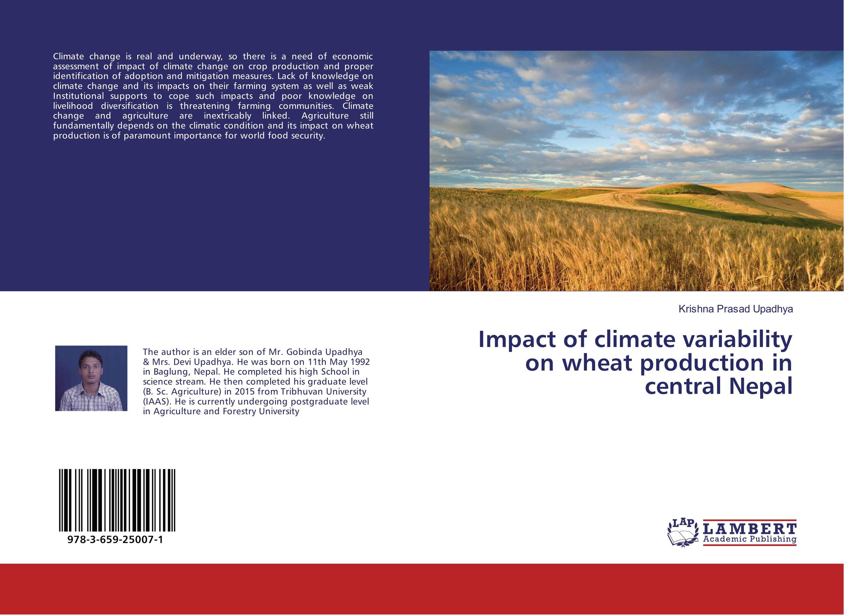 Impact of climate variability on wheat production in central Nepal impact of livelihood diversification on food security