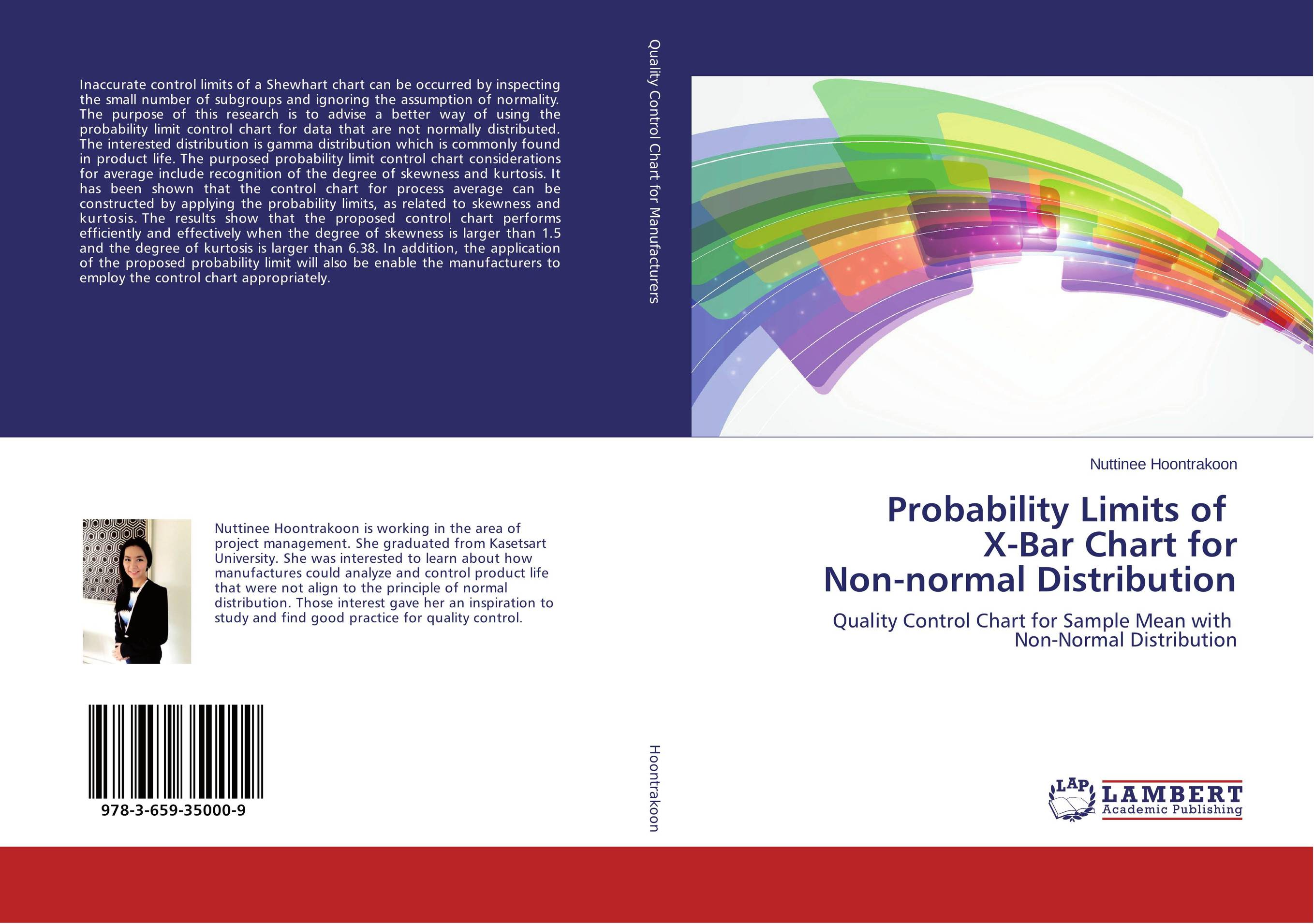 Probability Limits of X-Bar Chart for Non-normal Distribution exponentially weighted moving average control chart
