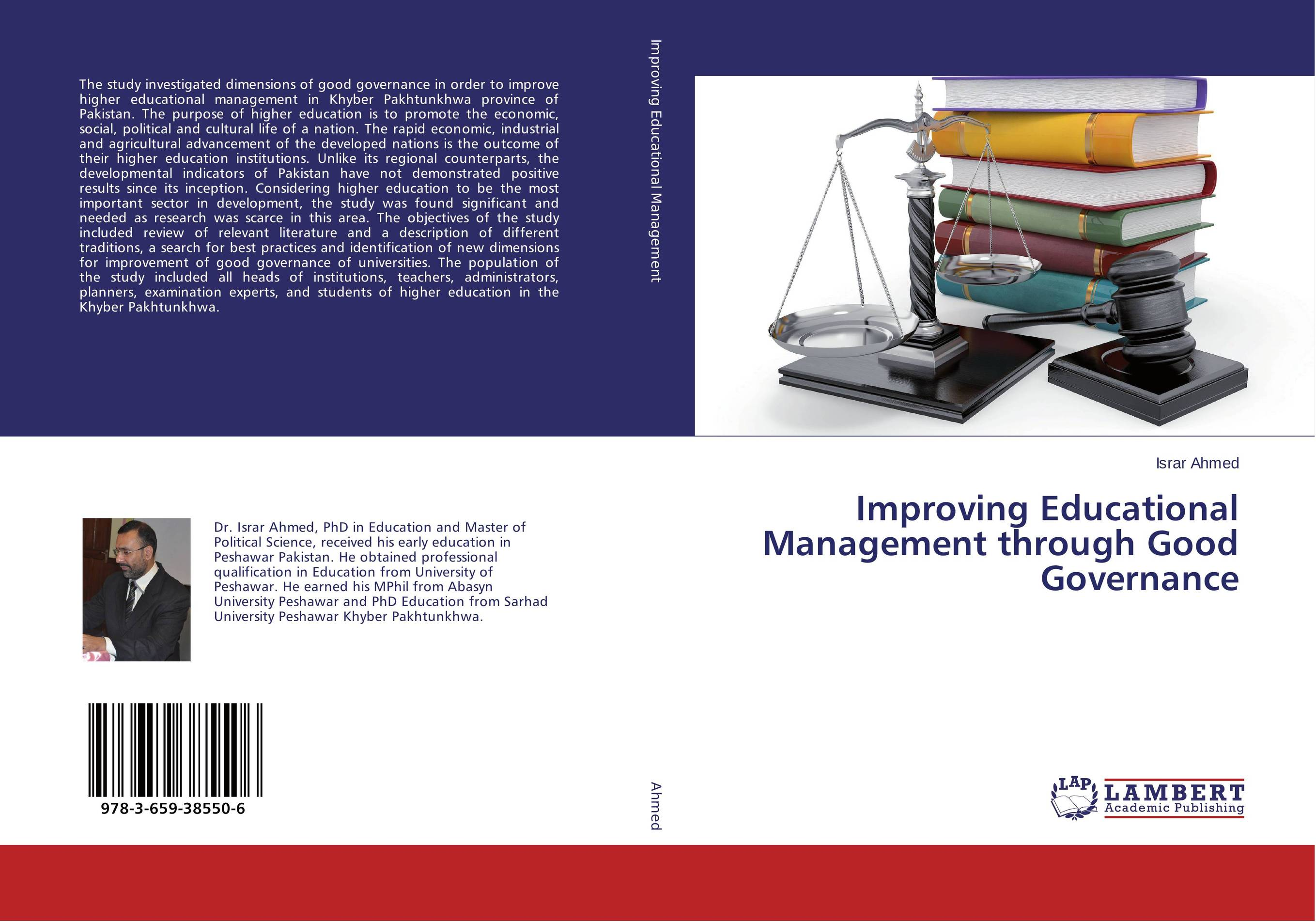 Improving Educational Management through Good Governance performance evaluation of buildings in higher educational institutions