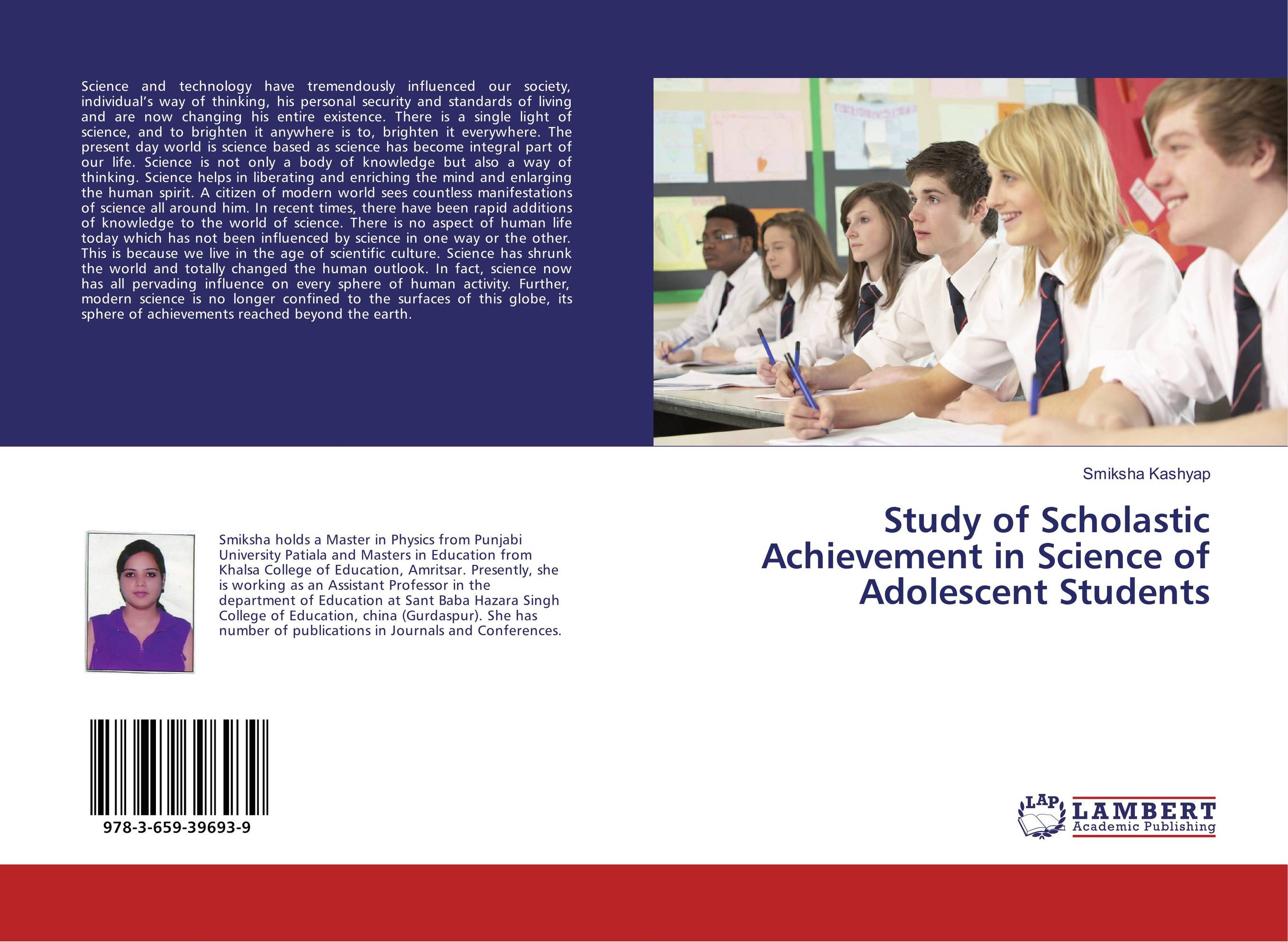 Study of Scholastic Achievement in Science of Adolescent Students озонатор бытовой days of science and technology tm gstcs 5g
