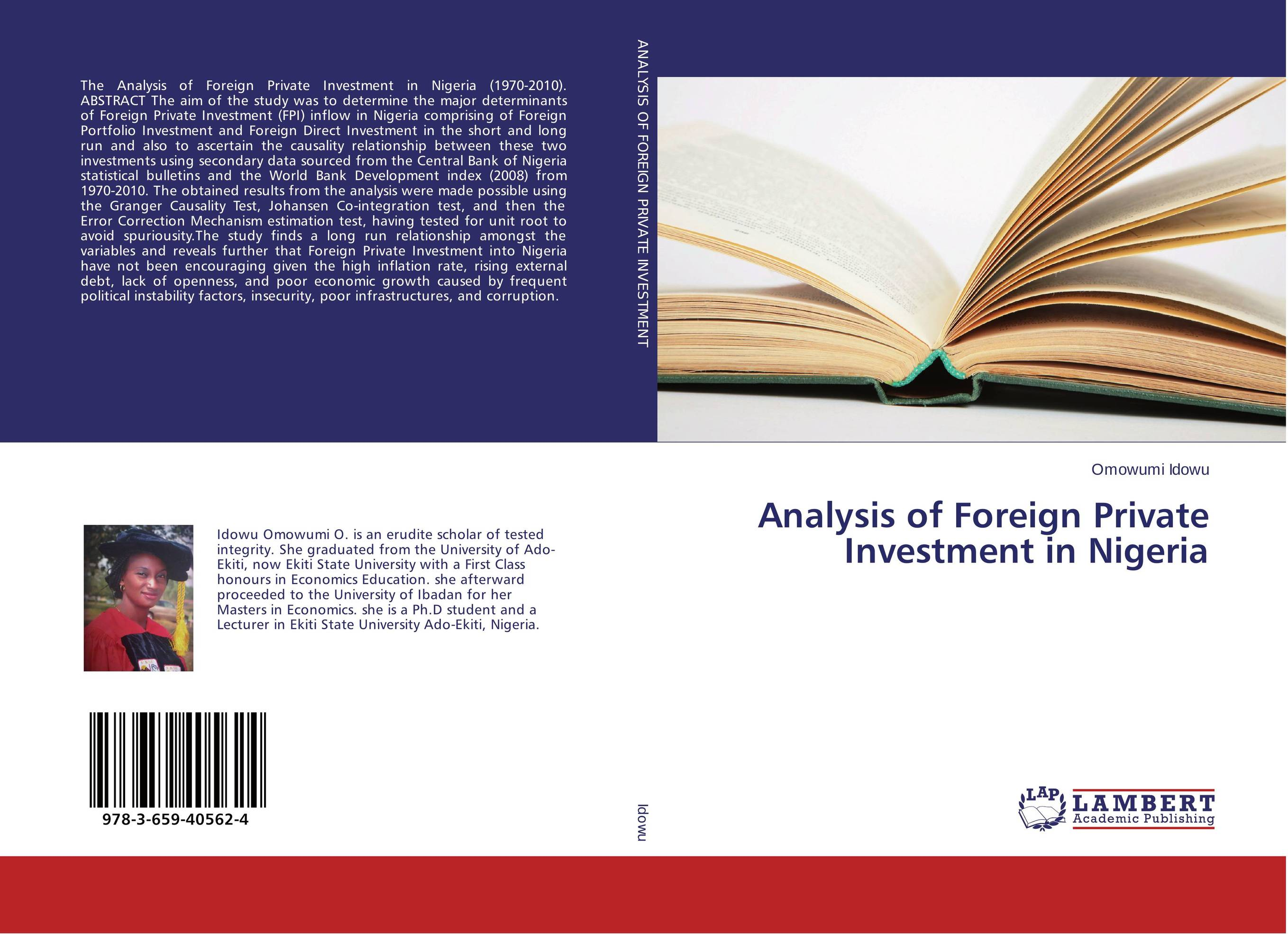 Analysis of Foreign Private Investment in Nigeria недорго, оригинальная цена