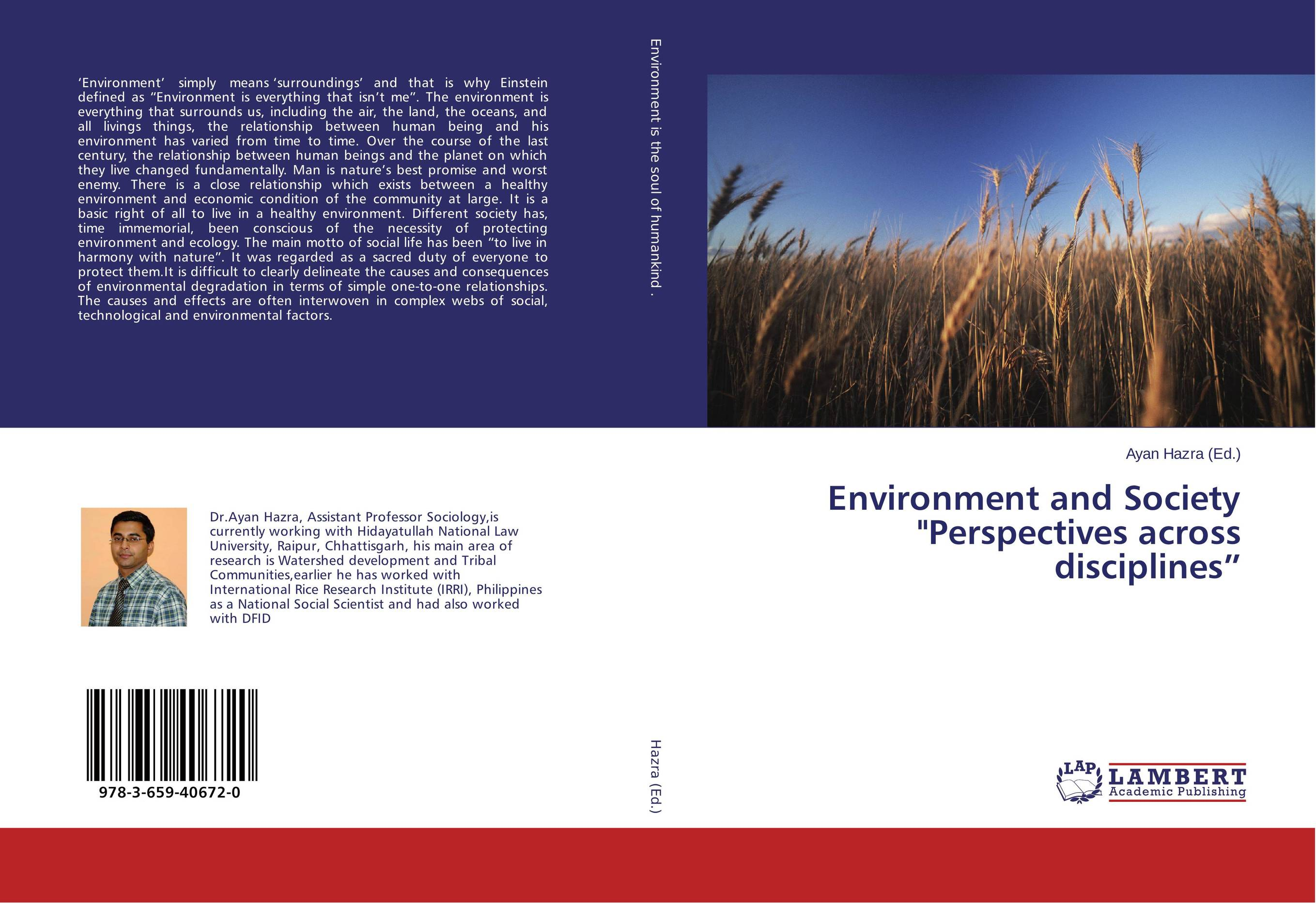 Environment and Society Perspectives across disciplines""