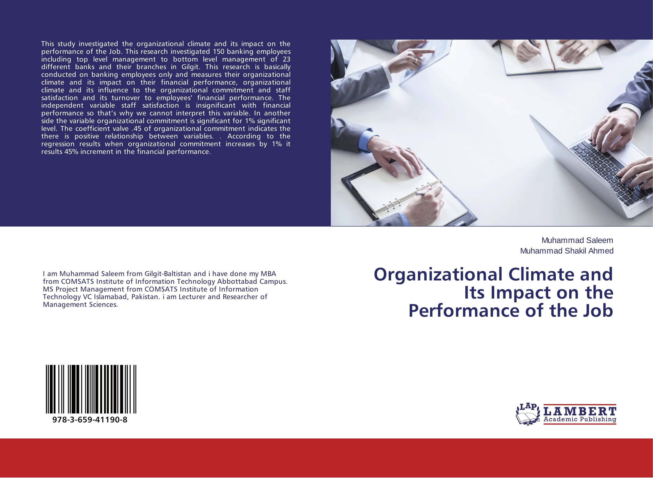 Organizational Climate and Its Impact on the Performance of the Job the impact of organizational politics on employees