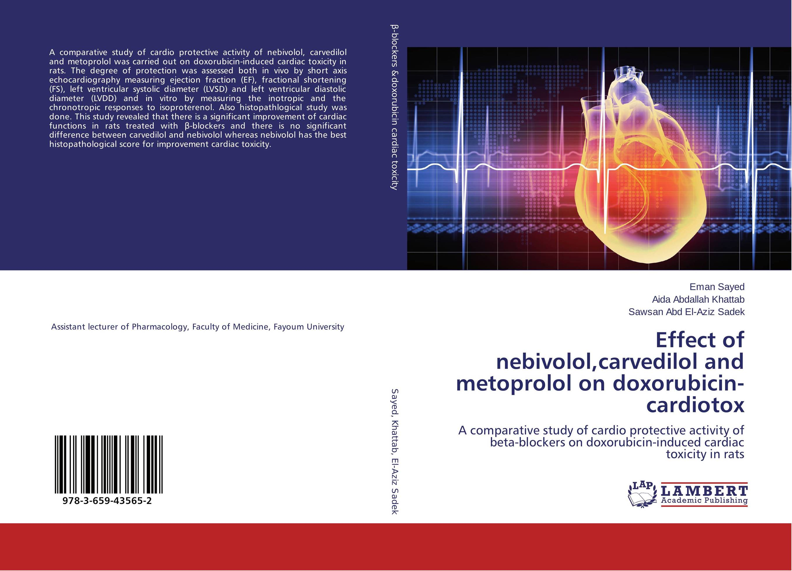 Effect of nebivolol,carvedilol and metoprolol on doxorubicin-cardiotox