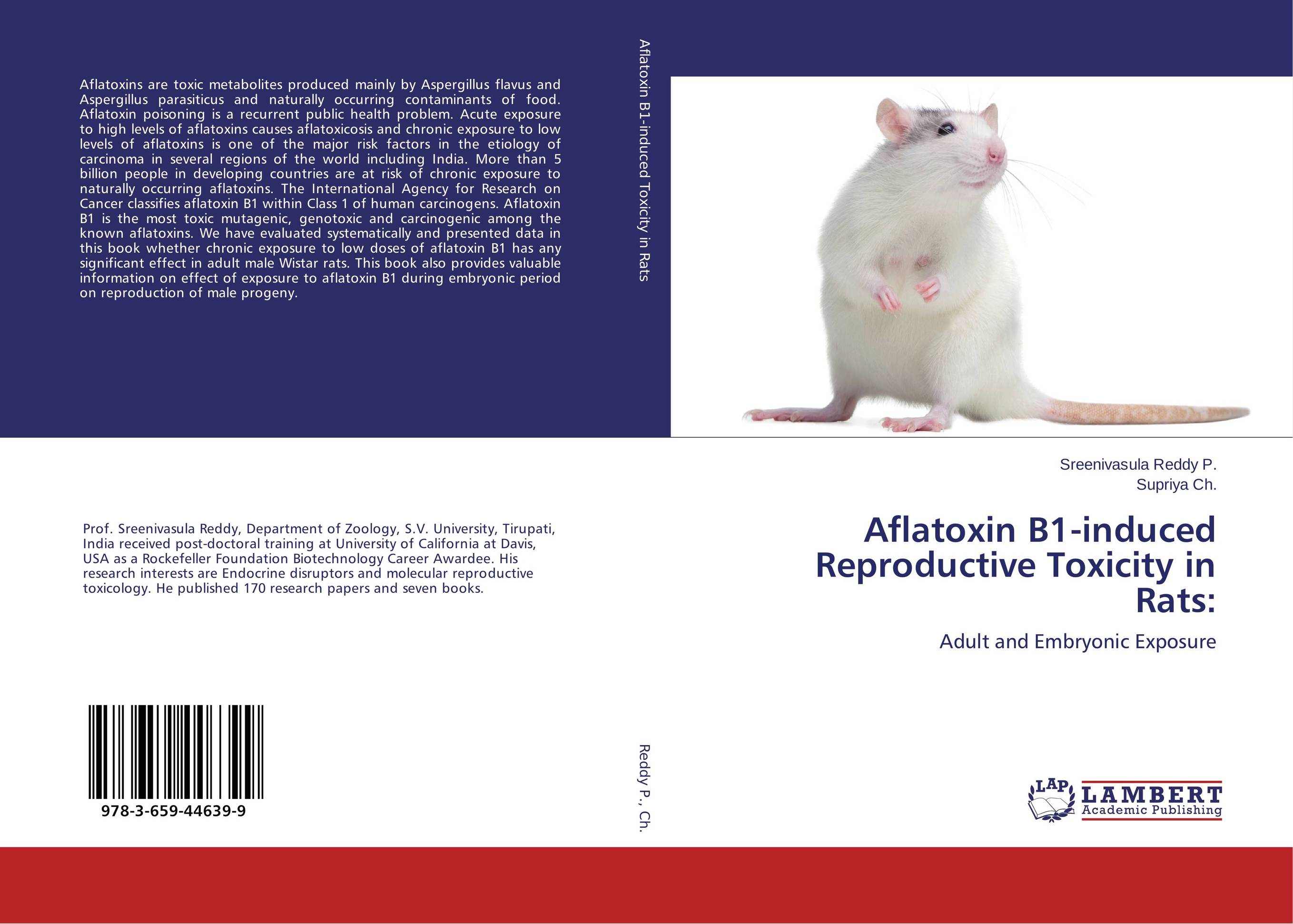 Aflatoxin B1-induced Reproductive Toxicity in Rats: vinclozolin induced reproductive toxicity in male rats