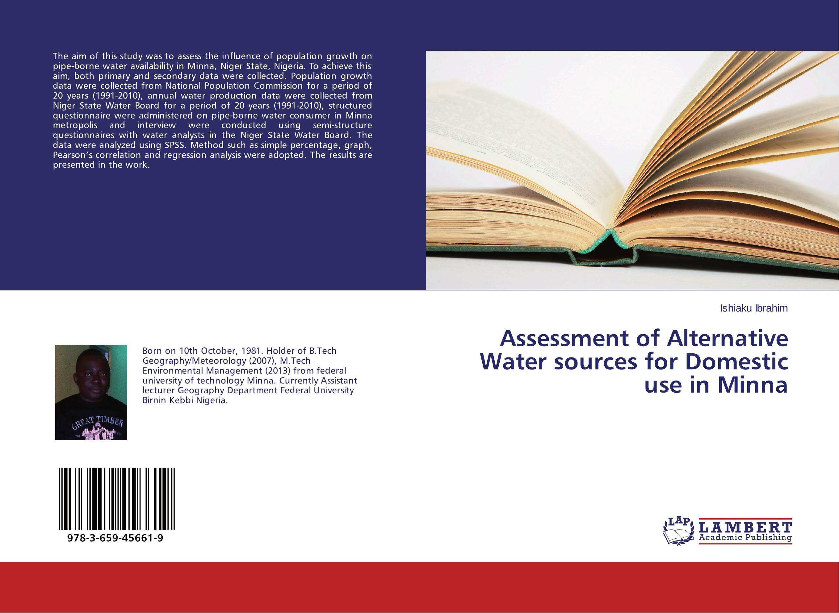 Assessment of Alternative Water sources for Domestic use in Minna bride of the water god v 3