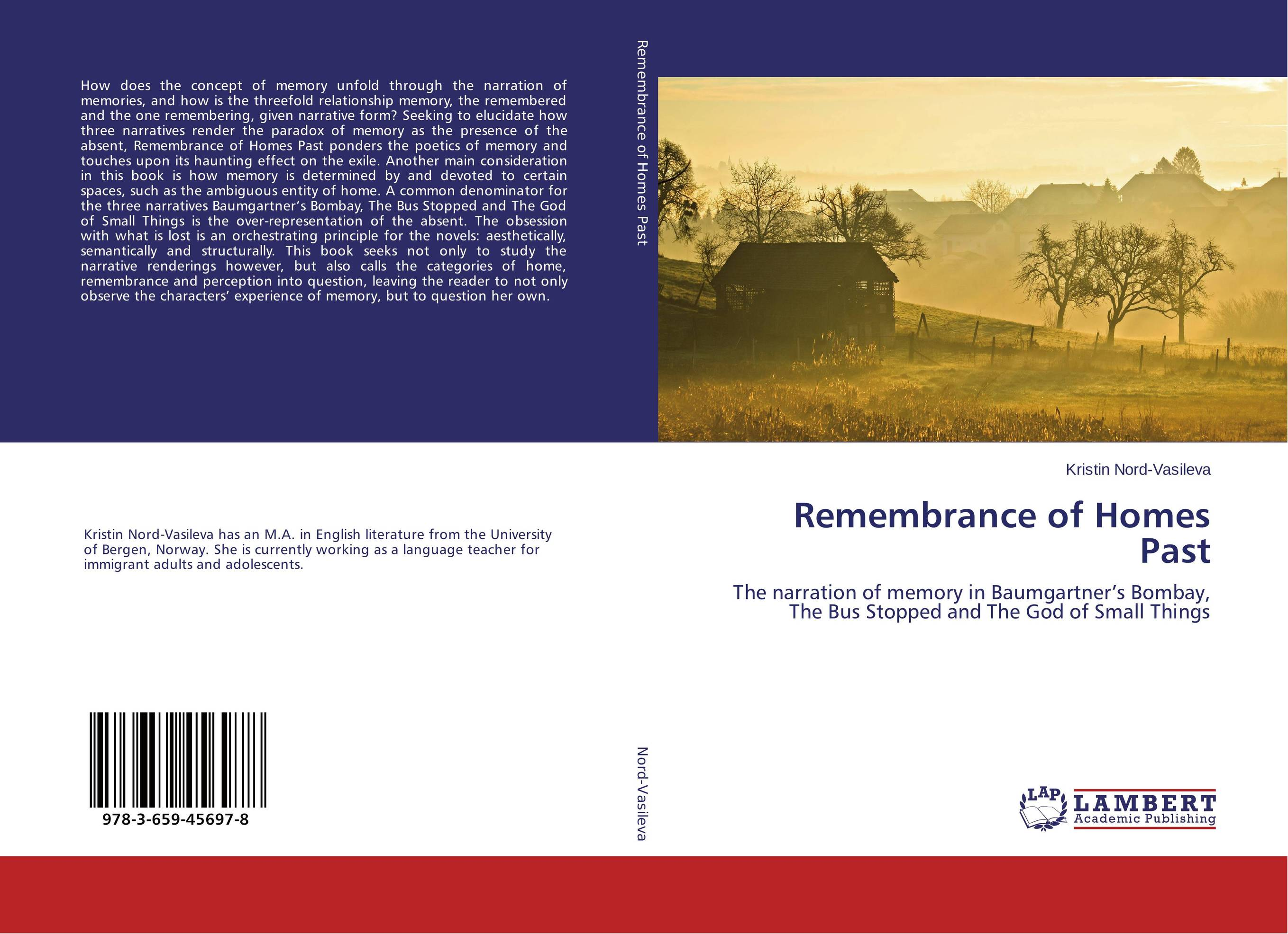 Remembrance of Homes Past the book of memory