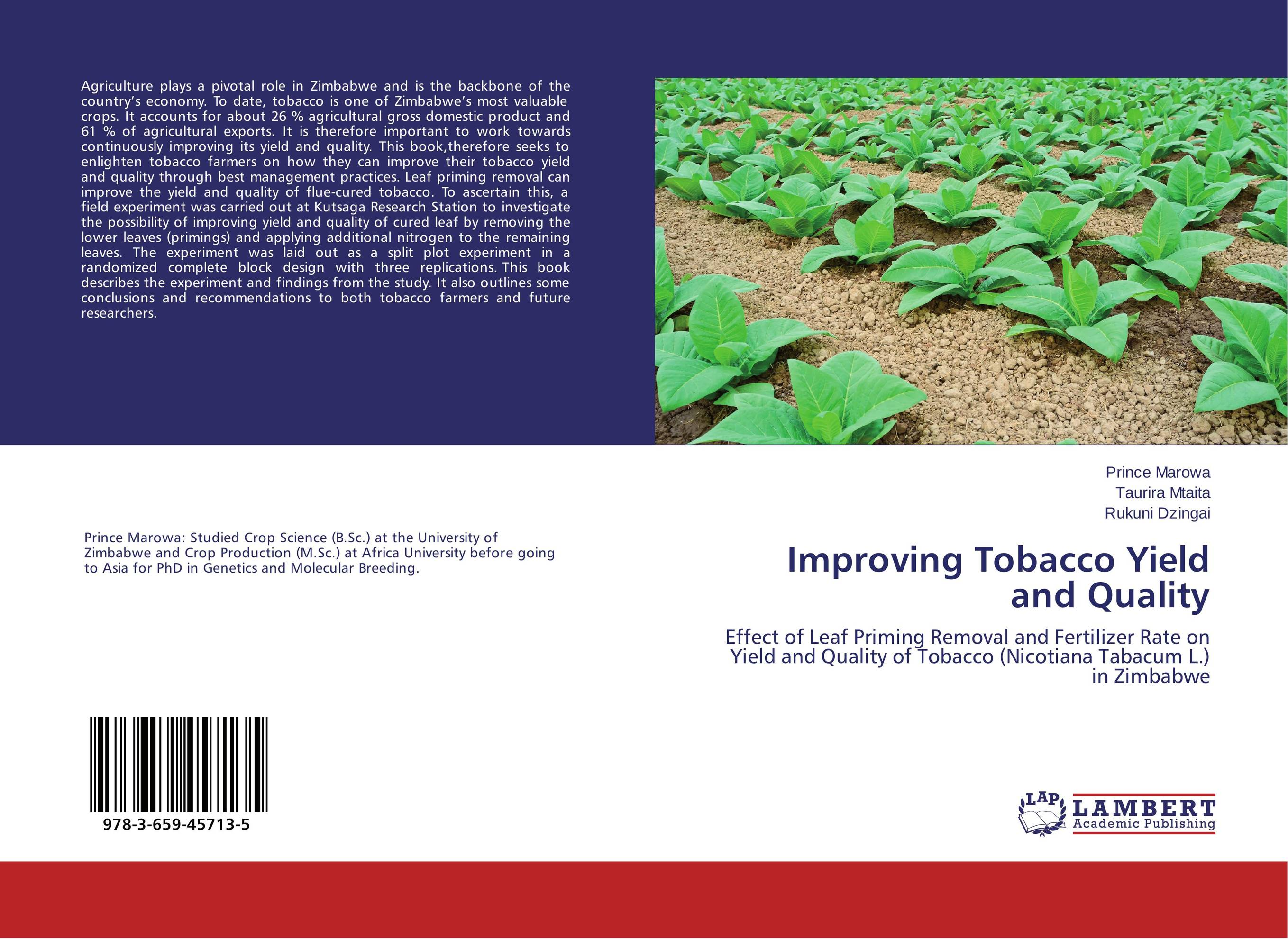 Improving Tobacco Yield and Quality