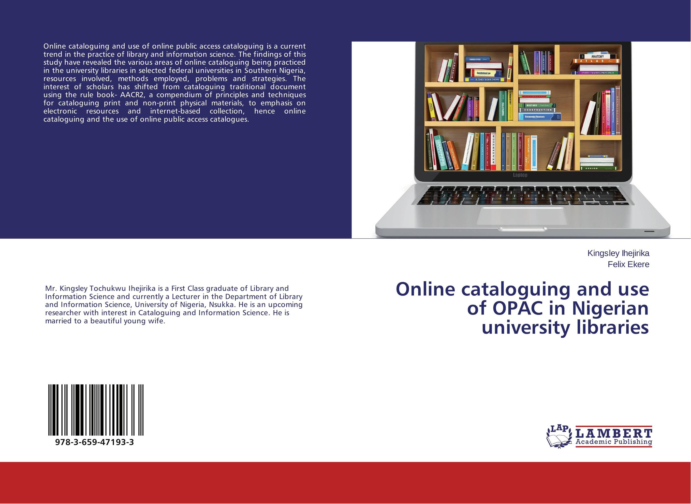 купить Online cataloguing and use of OPAC in Nigerian university libraries недорого
