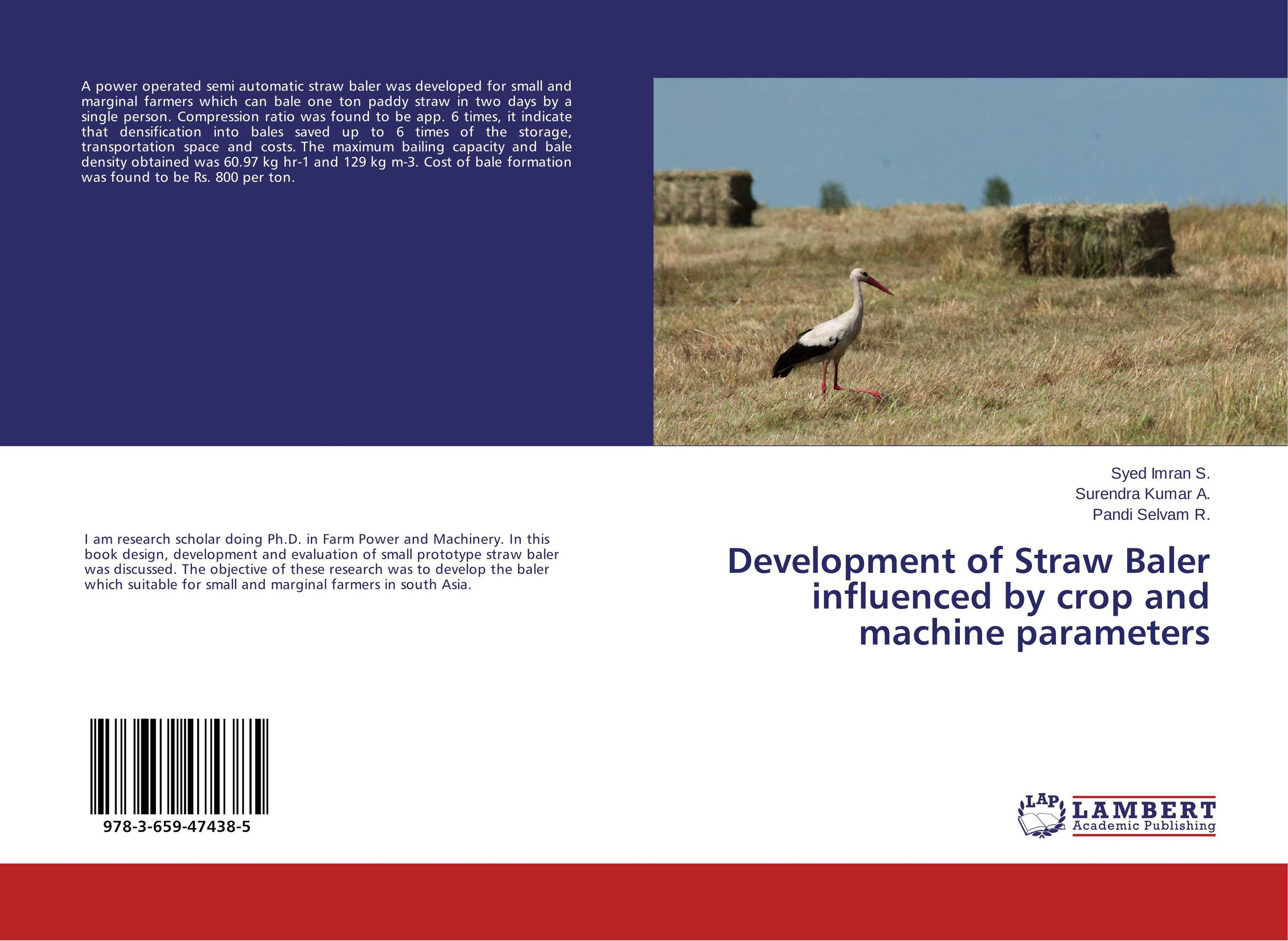 Development of Straw Baler influenced by crop and machine parameters found in brooklyn