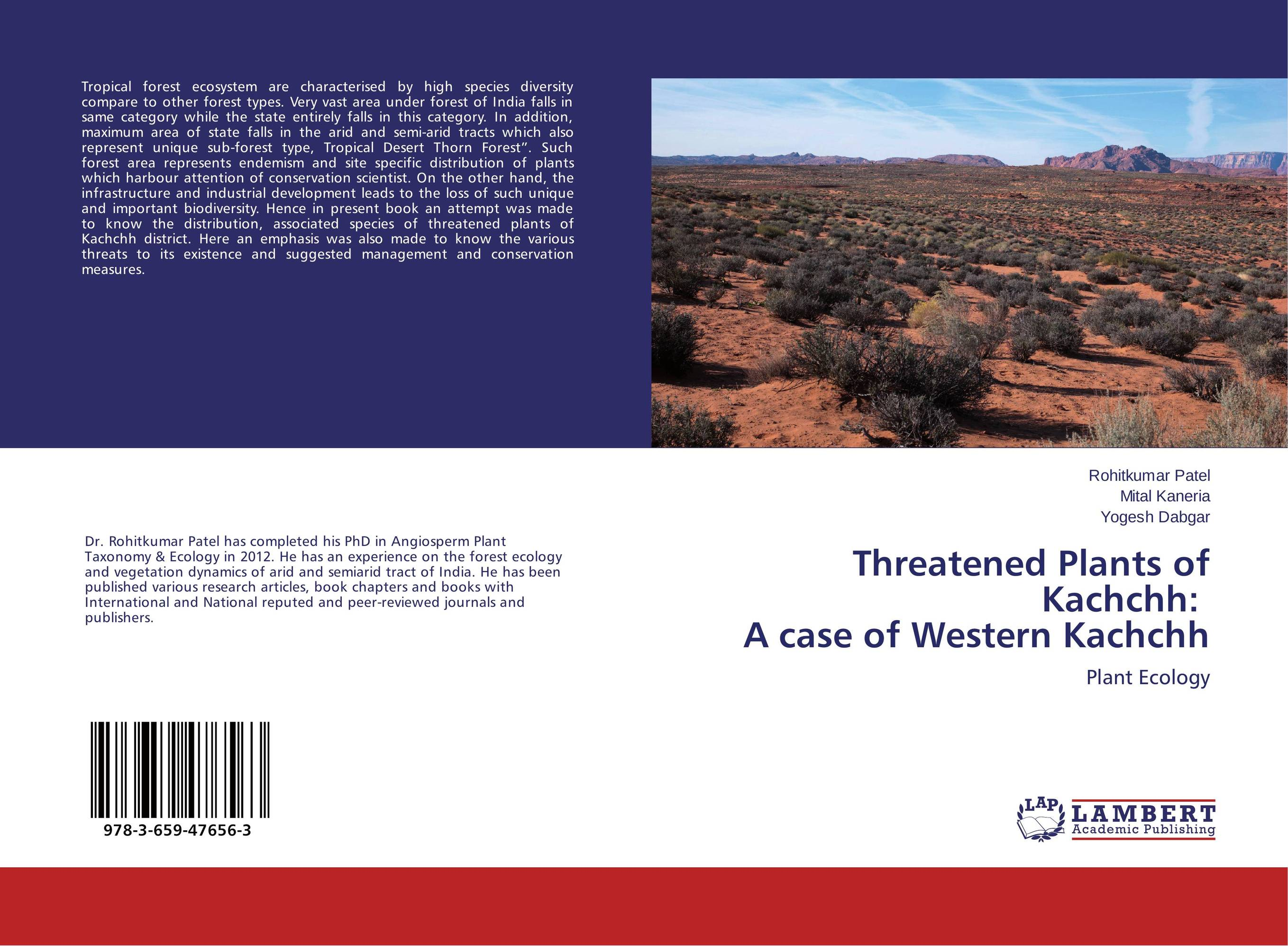 Threatened Plants of Kachchh: A case of Western Kachchh affair of state an