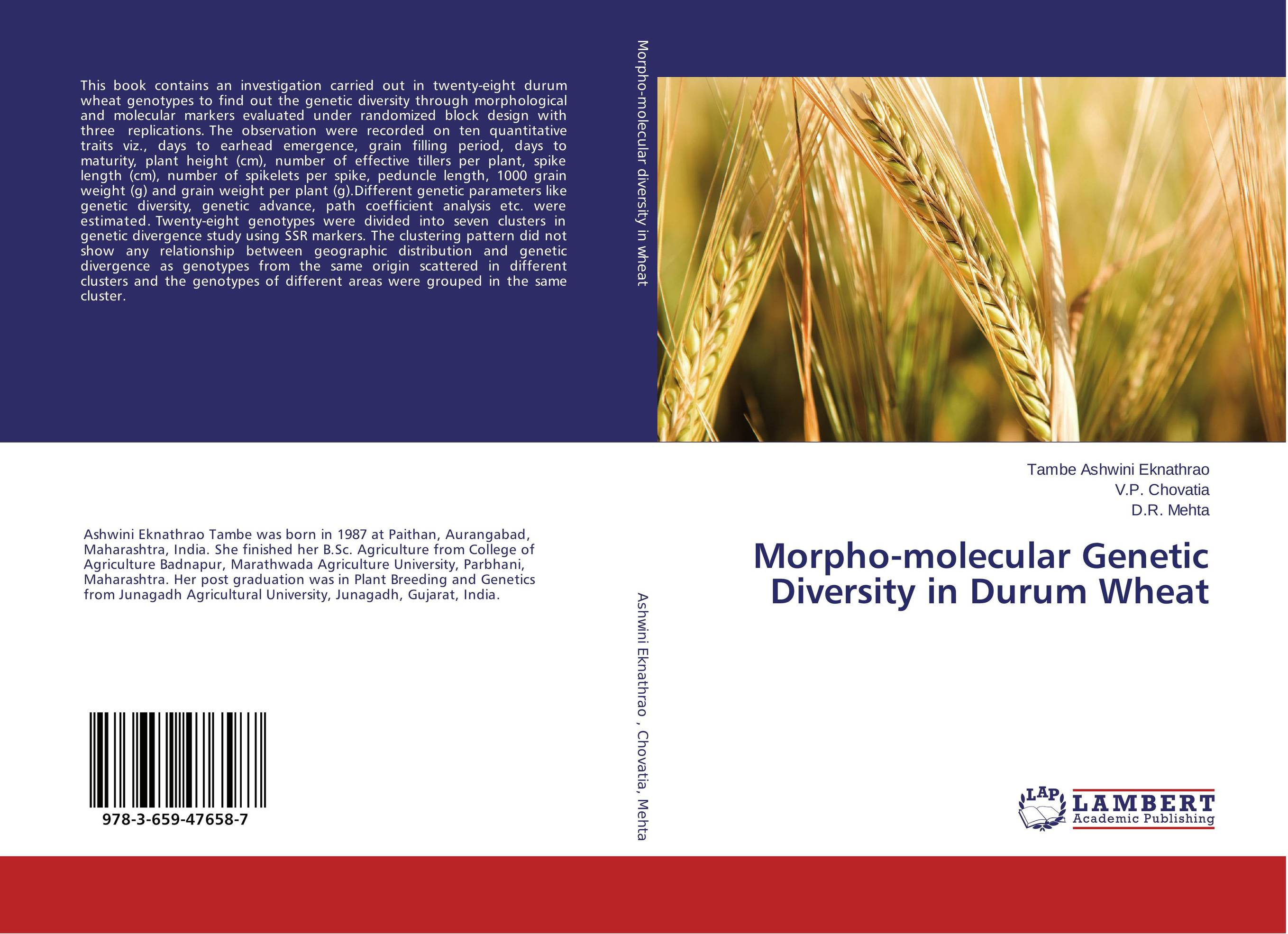 Morpho-molecular Genetic Diversity in Durum Wheat vaishali shami naresh pratap singh and pramod kumar pal morpho physio and genetic diversity analysis on indian wheat genotypes