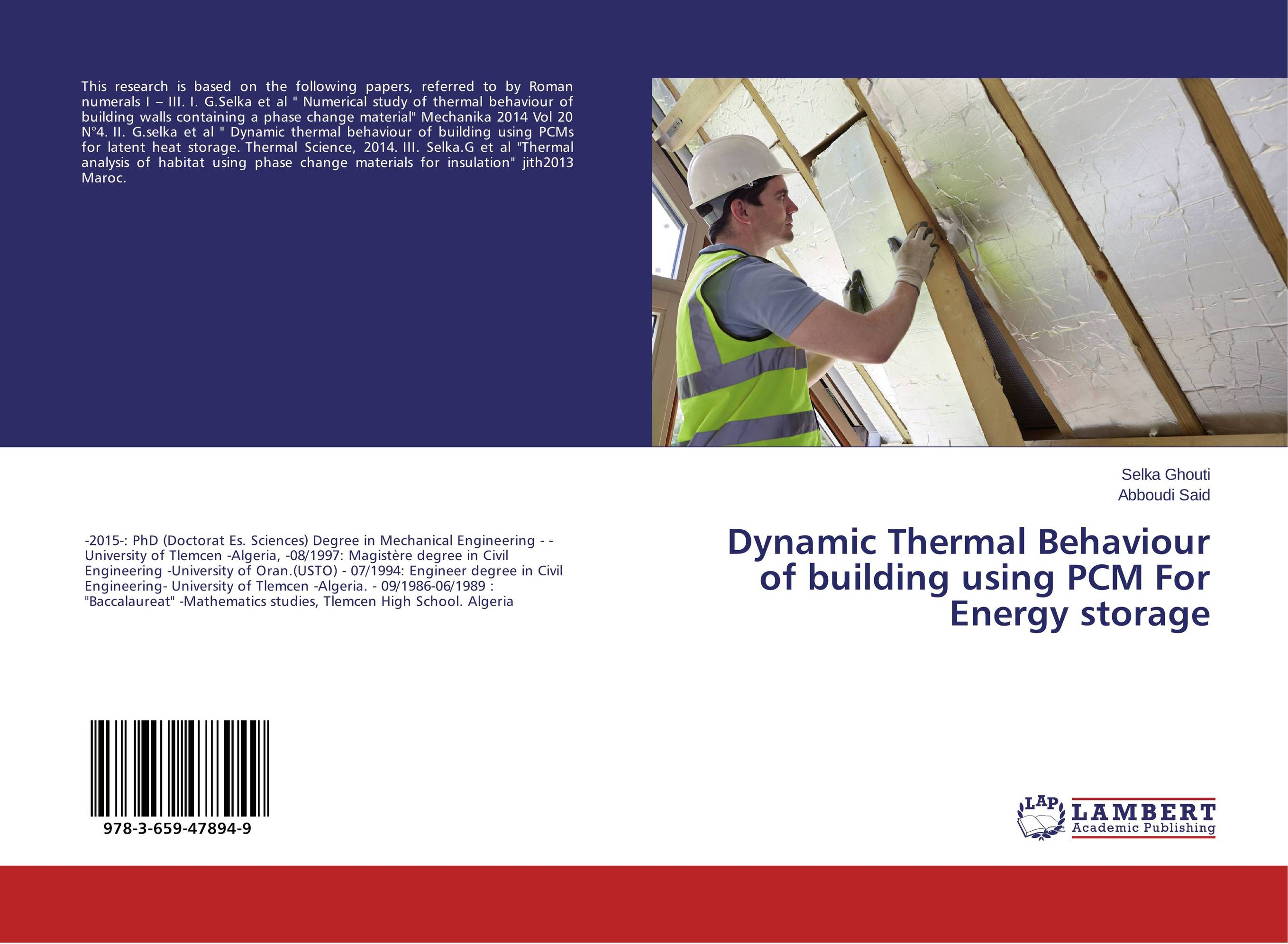 Dynamic Thermal Behaviour of building using PCM For Energy storage
