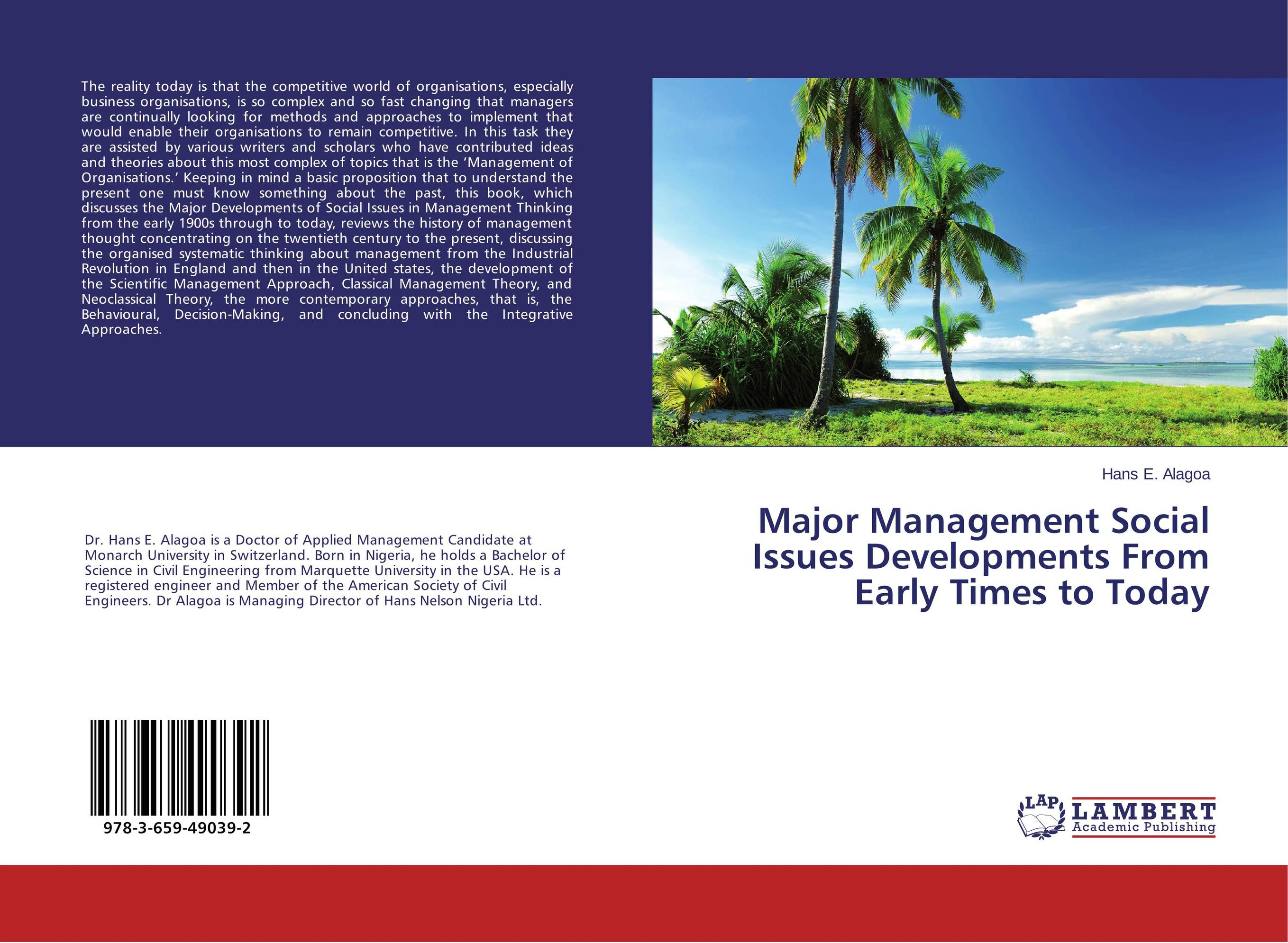 Major Management Social Issues Developments From Early Times to Today a decision support tool for library book inventory management