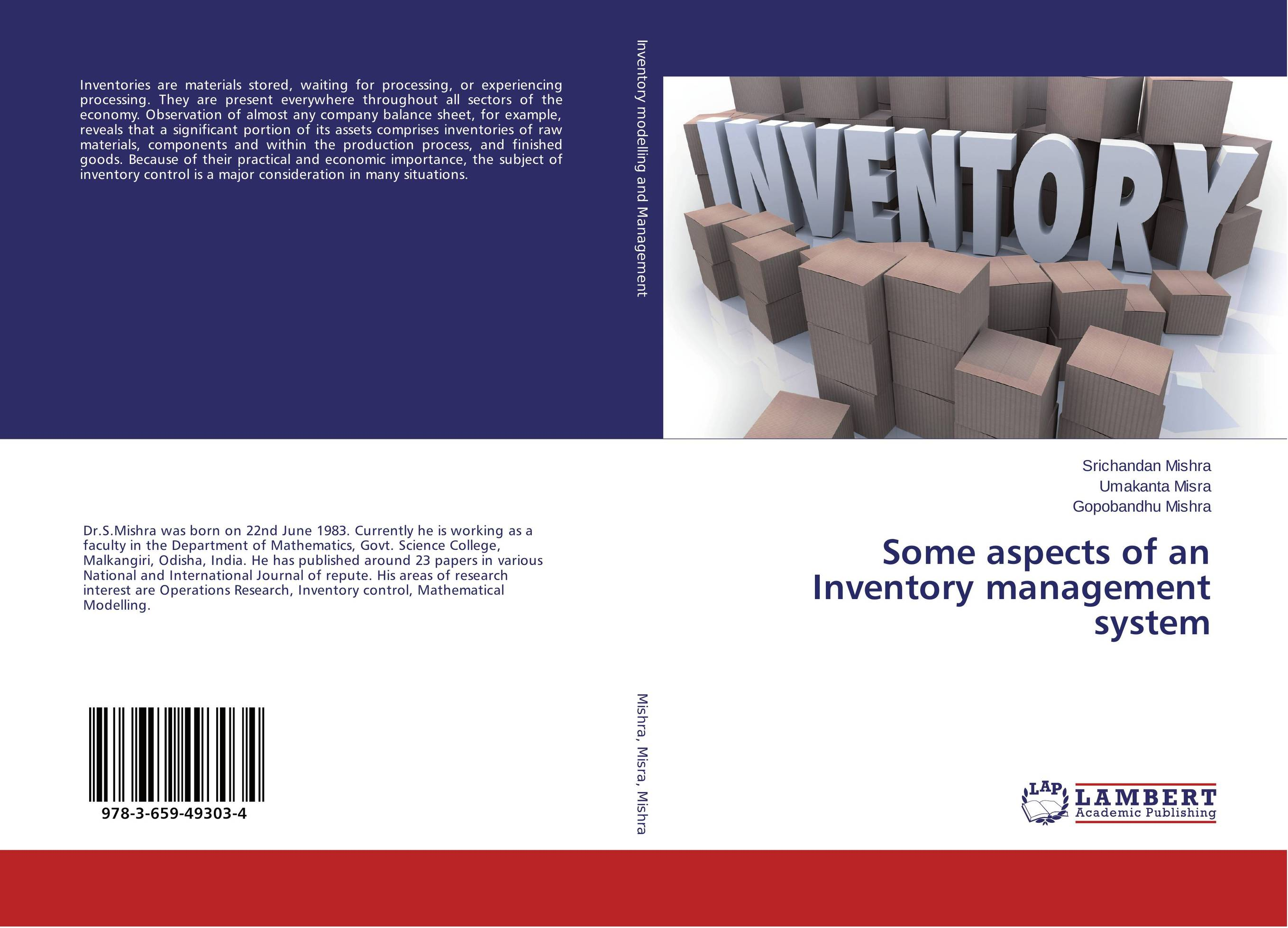 Some aspects of an Inventory management system