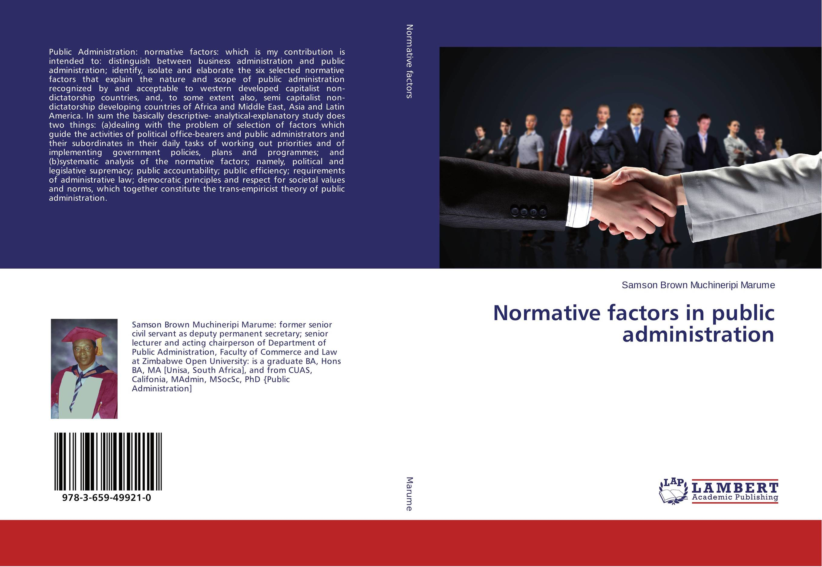 Normative factors in public administration administration of public health institutions